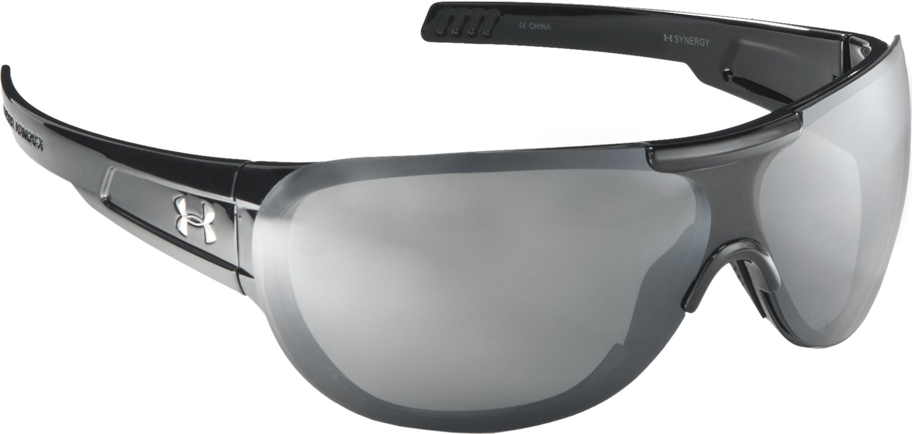 Women's UA Synergy Sunglasses, Shiny Black, zoomed image