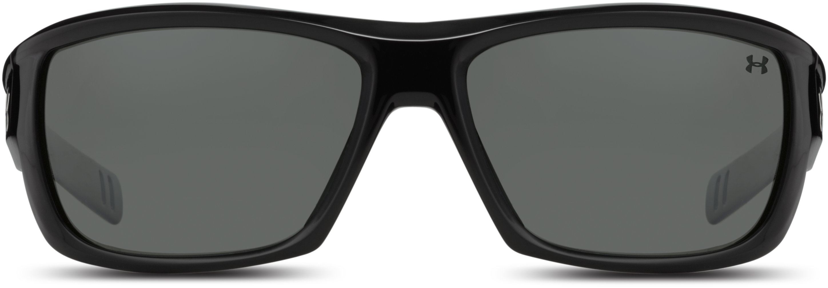 UA Rumble Polarized Sunglasses, Shiny Black,