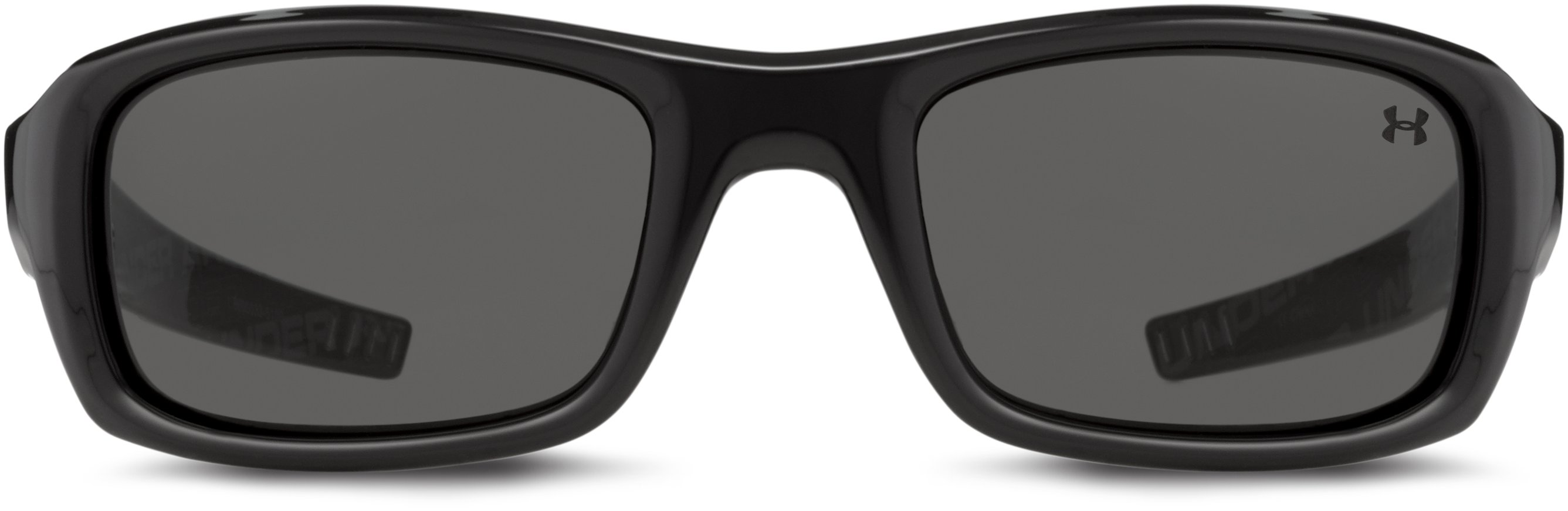 UA Surge Sunglasses, Shiny Black With Print