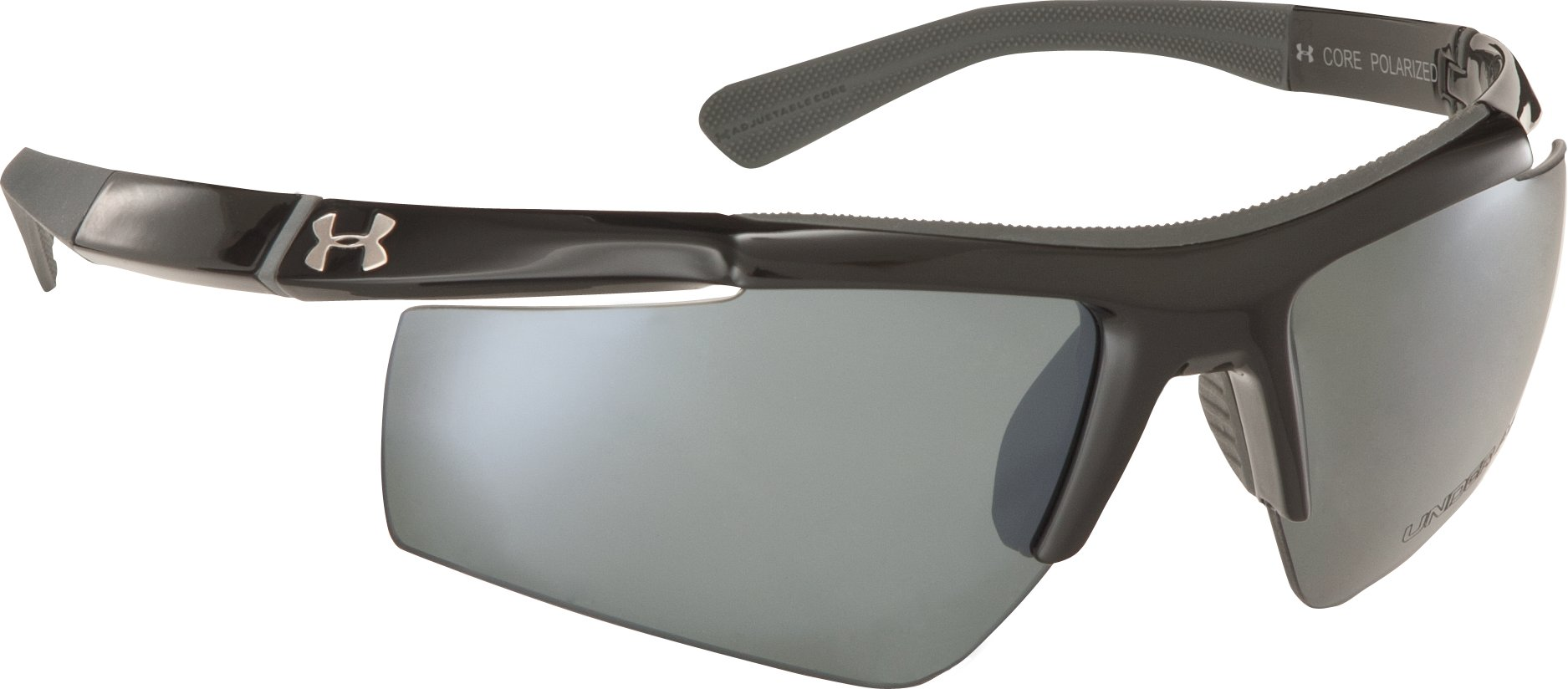 UA Core Polarized Multiflection™ Sunglasses, Shiny Black