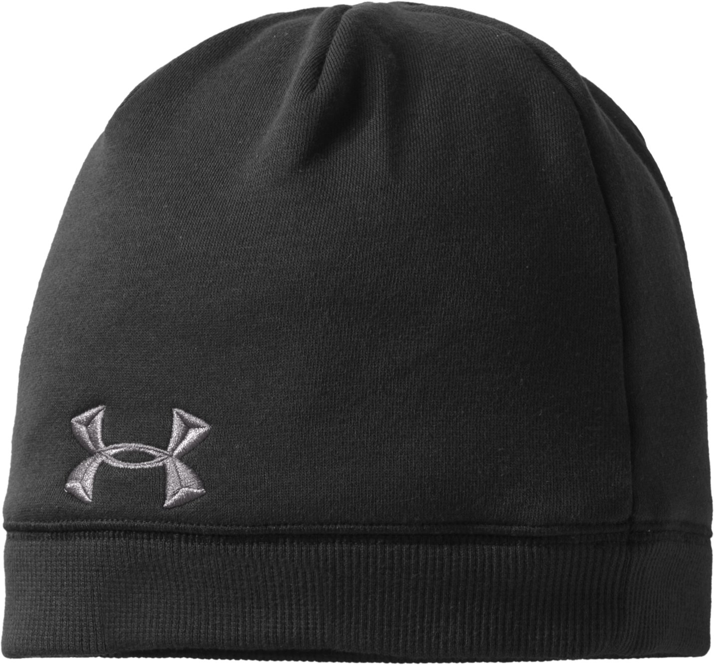Mens Charged Cotton® Storm Beanie, Black , zoomed image
