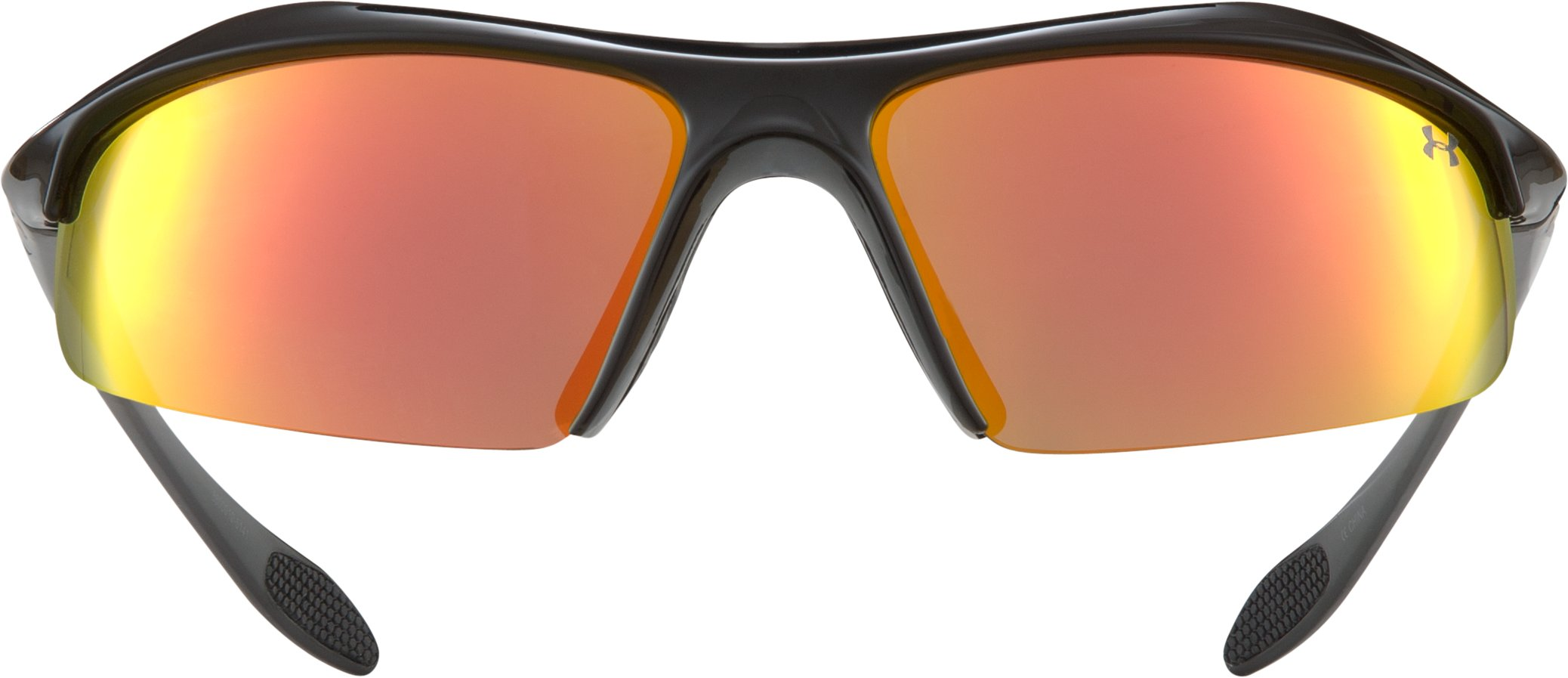 UA Zone Orange Multiflection™ Sunglasses, Shiny Black, zoomed image