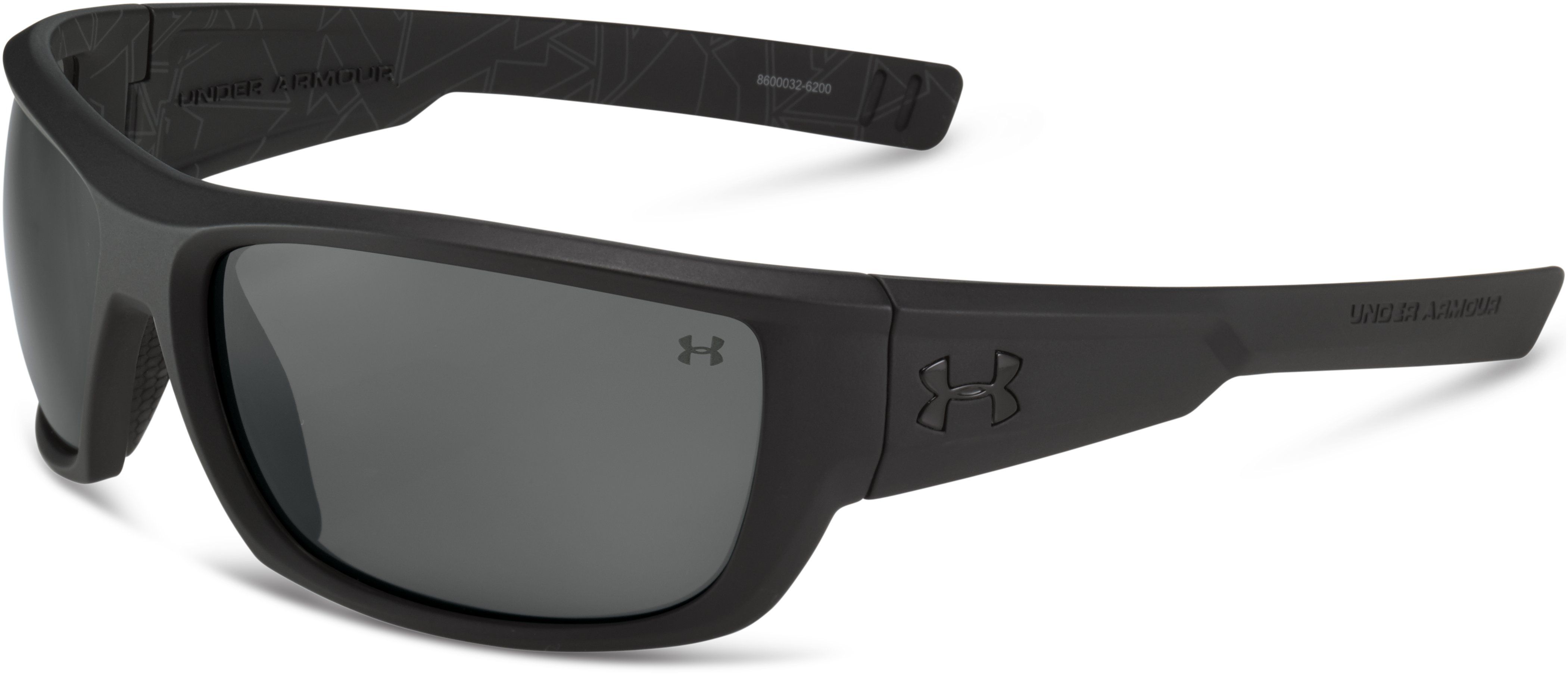 UA Rumble Sunglasses, Satin Black With Print