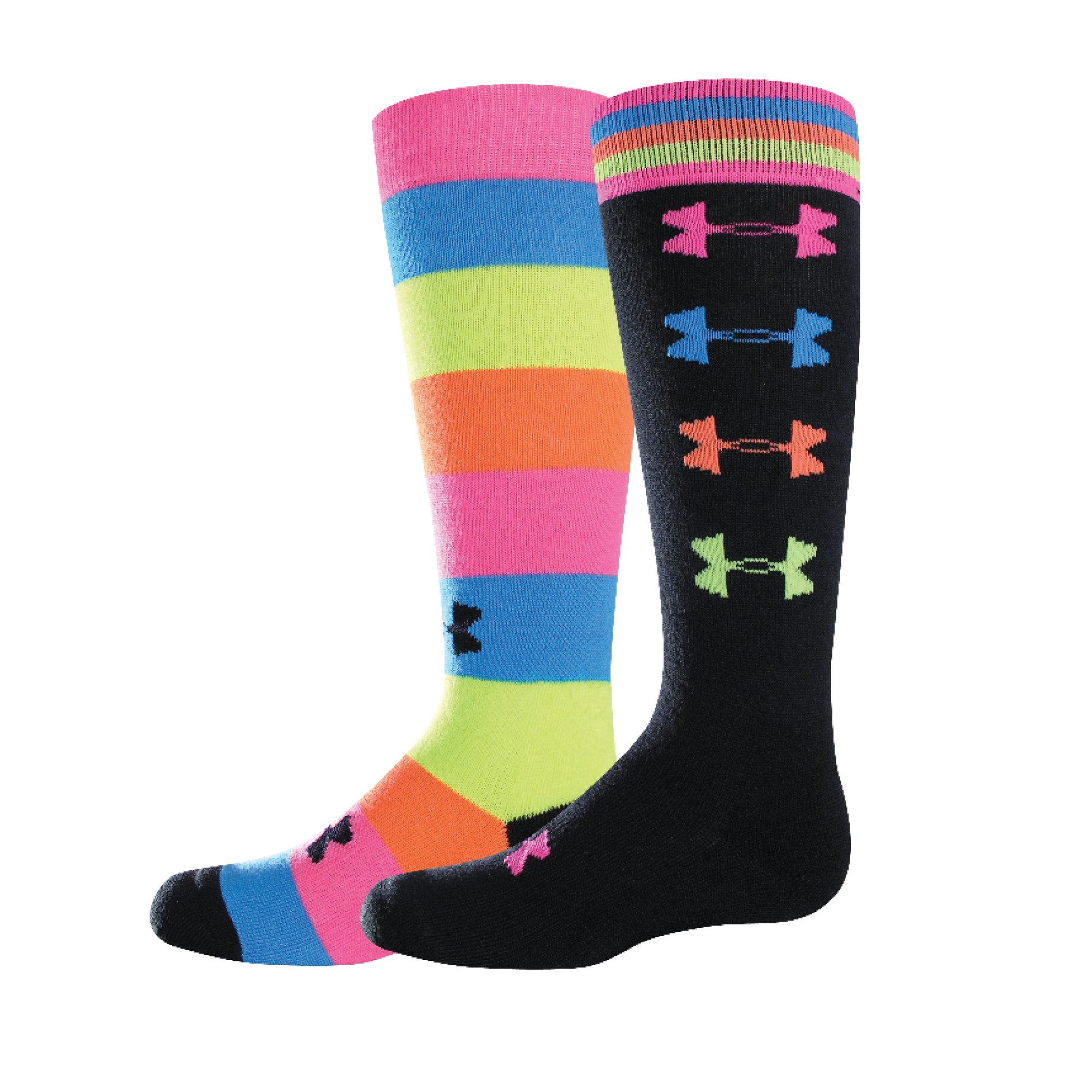 Girls' Recur OTC Socks, Black , zoomed image