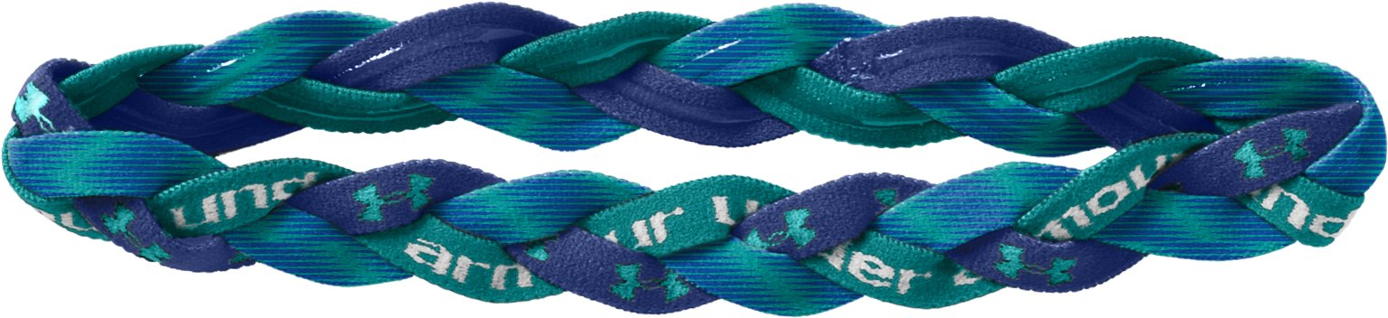 Women's Armour™ Braided Mini Headband, BLU-AWAY, zoomed image