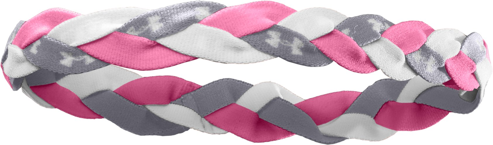 Women's Armour™ Braided Mini Headband, Fluo Pink, zoomed image