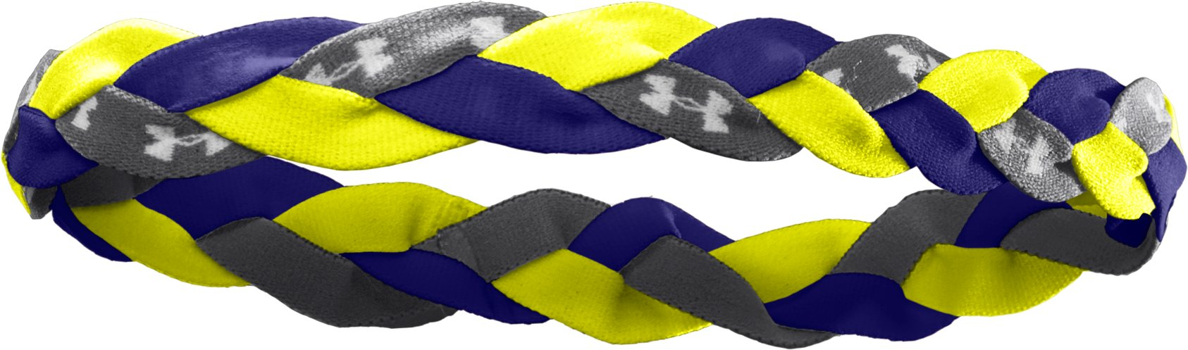 Women's Armour™ Braided Mini Headband, High-Vis Yellow, zoomed image