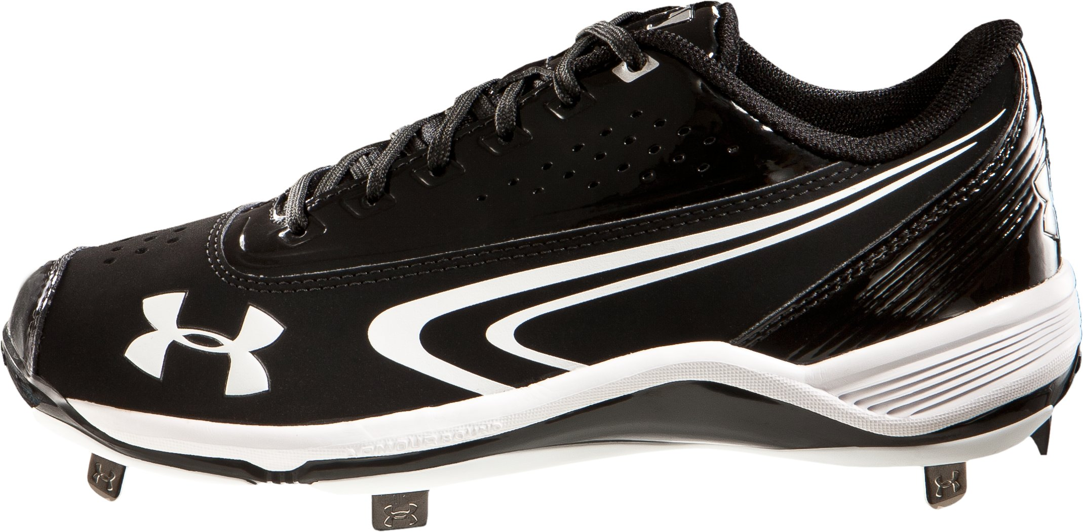 Men's UA Ignite III Low-Cut Metal Baseball cleats, Black ,