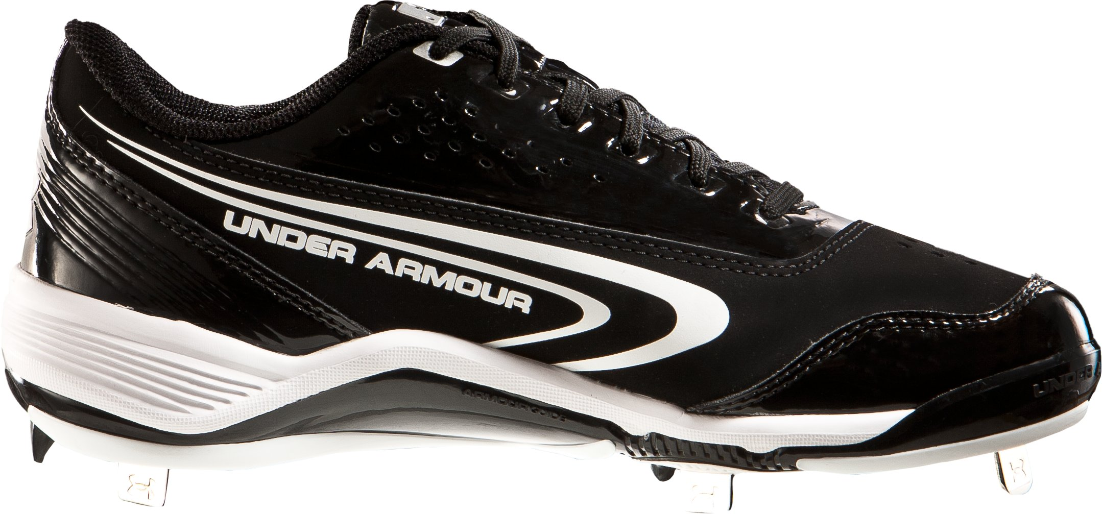 Men's UA Ignite III Low-Cut Metal Baseball cleats, Black , zoomed image