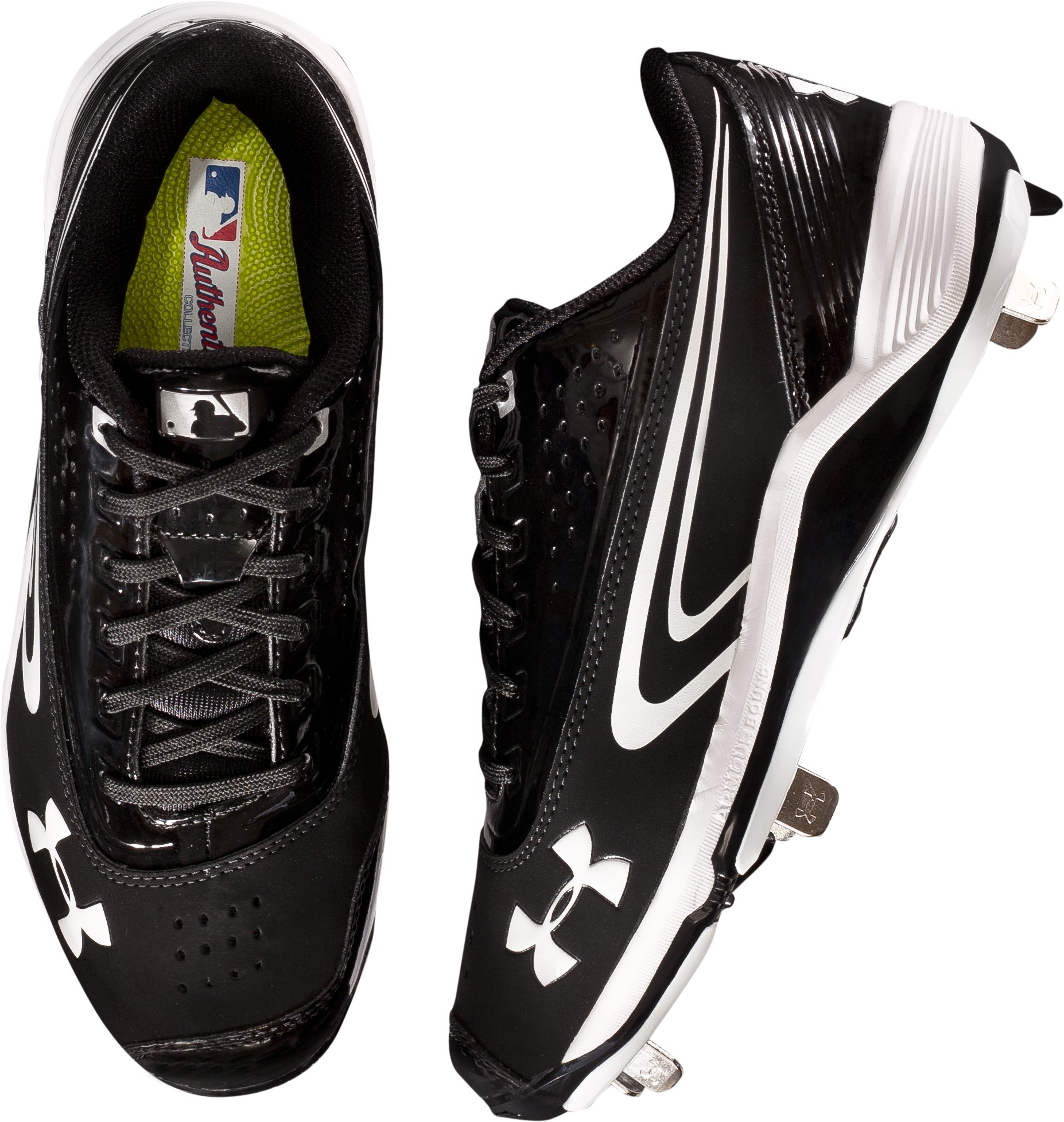 Men's UA Ignite III Low-Cut Metal Baseball cleats, Black