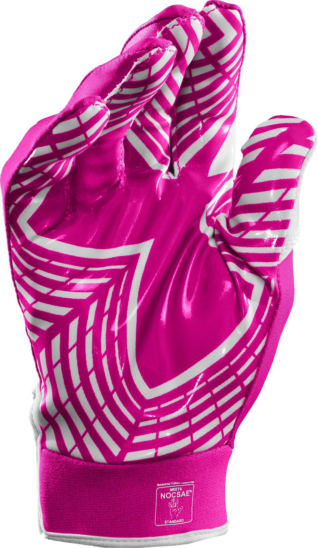 Men's UA F3 Full Finger Football Gloves, Tropic Pink