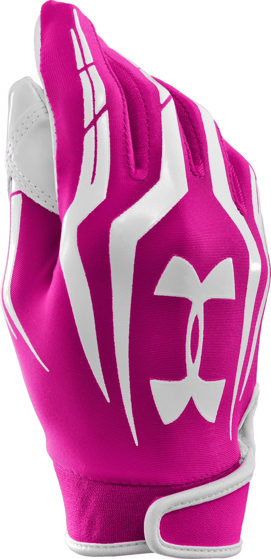 Men's UA F3 Full Finger Football Gloves, Tropic Pink, zoomed image