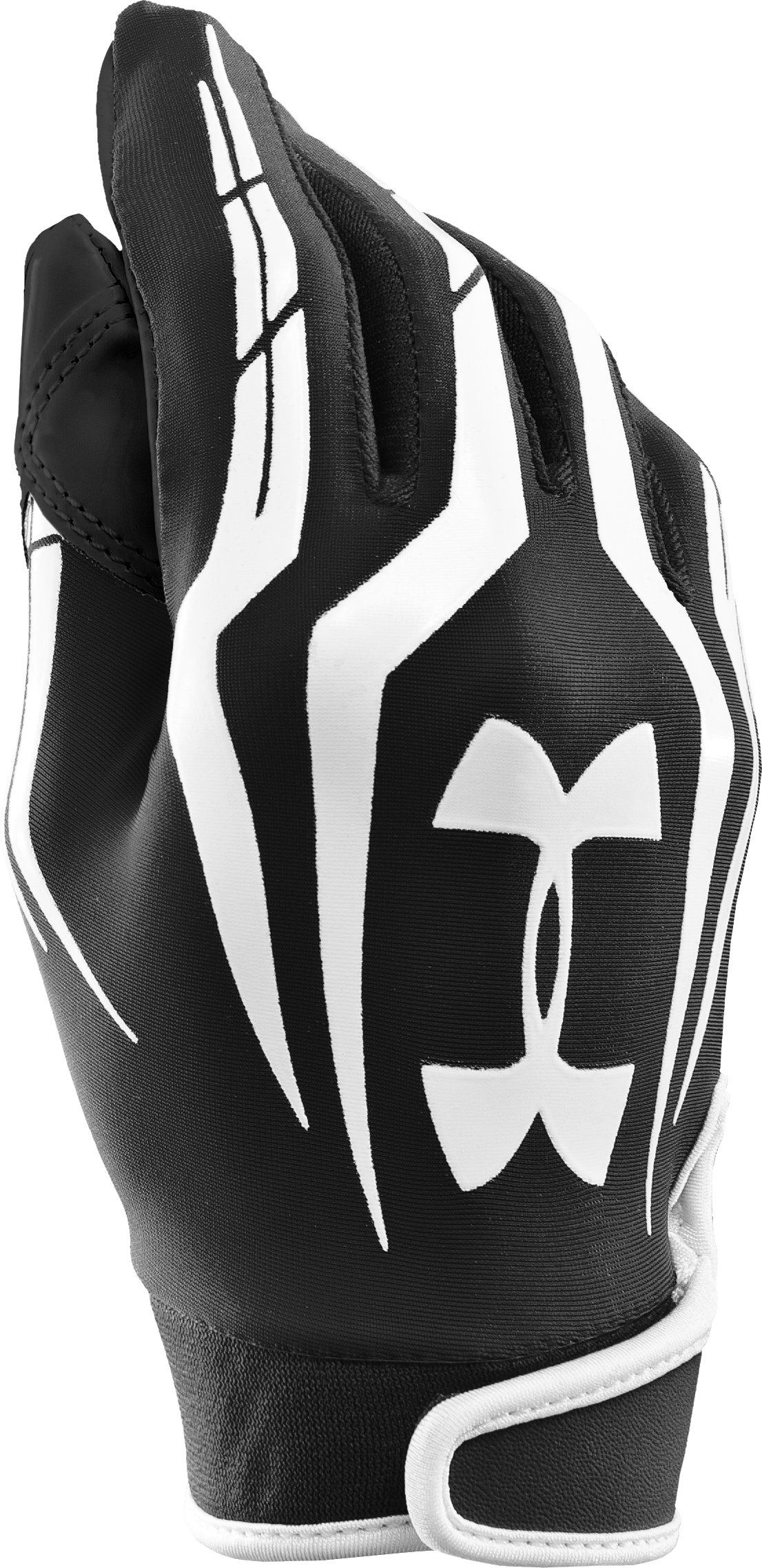 Boys' UA F3 Full Finger Football Gloves, Black , zoomed image