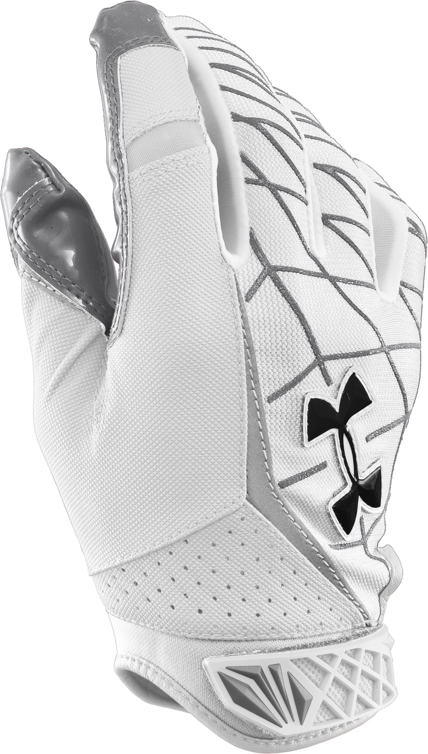 Men's UA Warp Speed Football Gloves, White