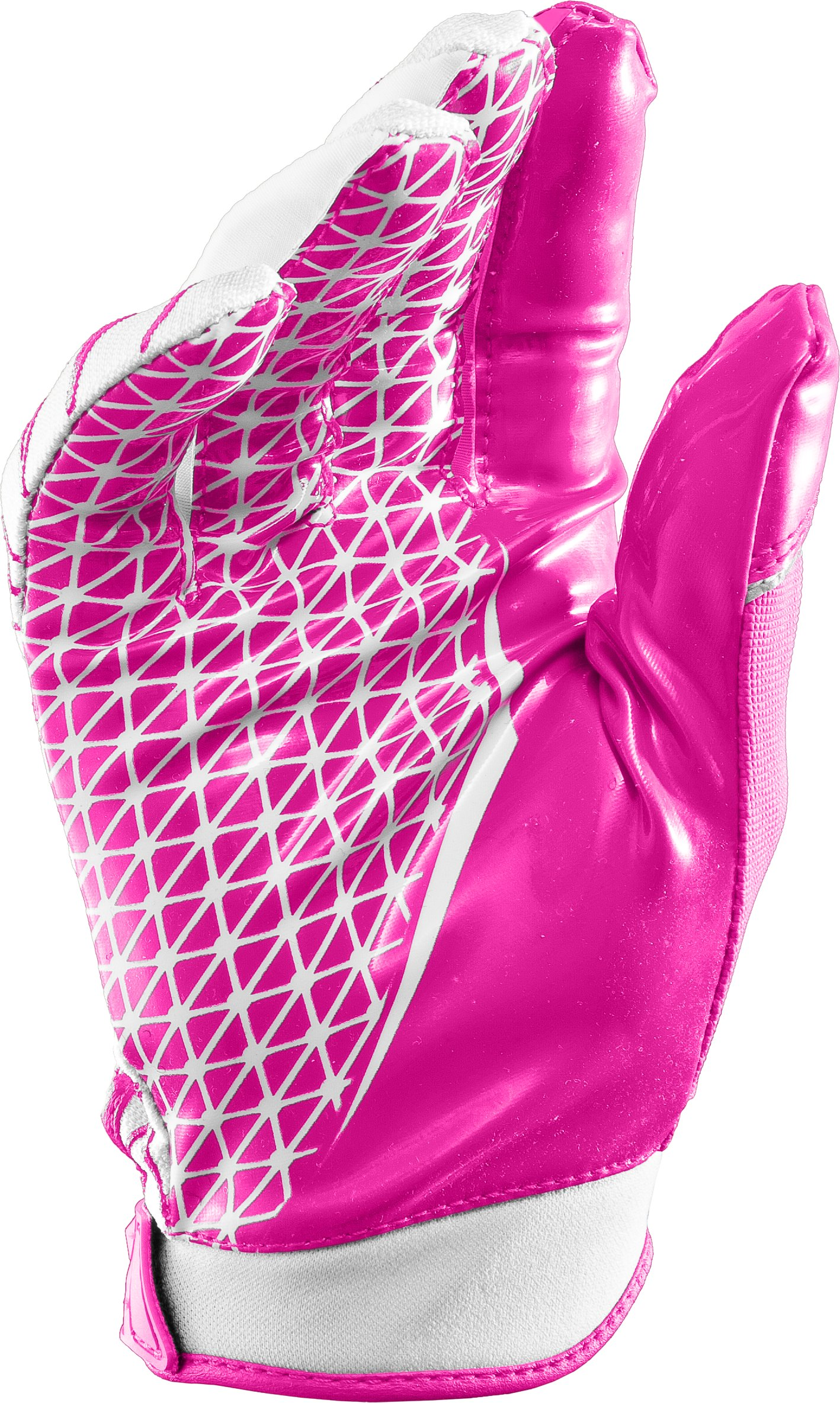 Men's UA Warp Speed Football Gloves, Tropic Pink,