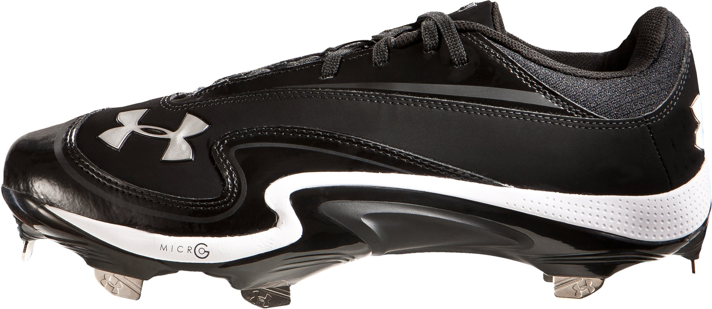 Men's UA Natural III Low-Cut Baseball Cleats, Black , undefined