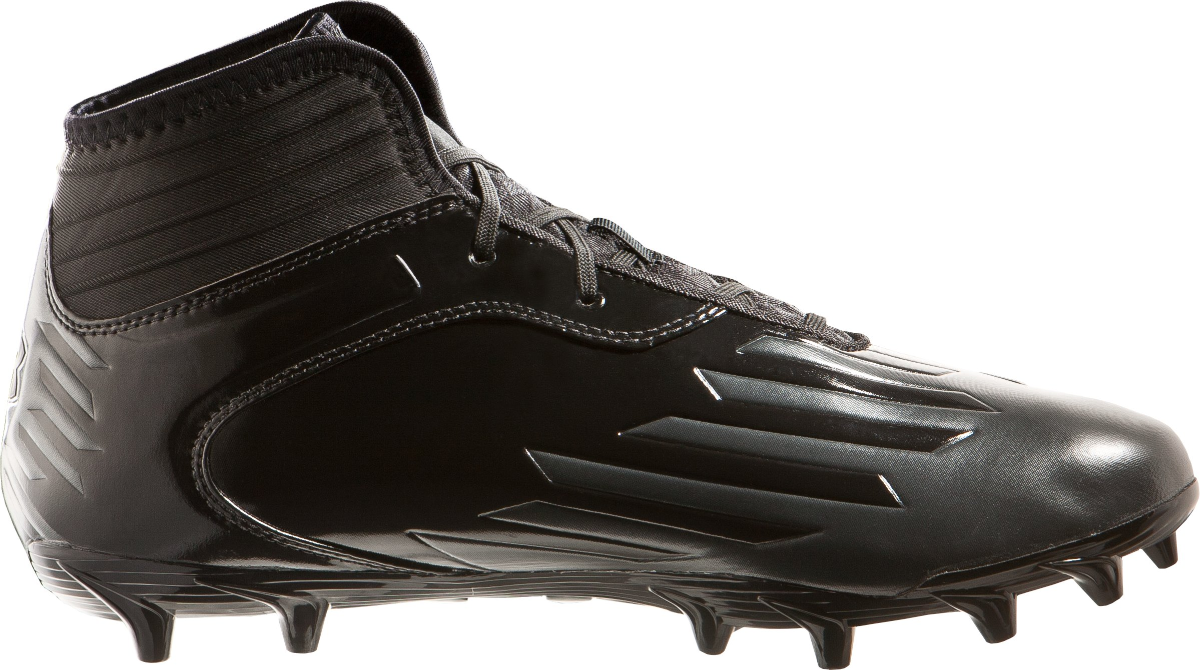 Men's UA Nitro Diablo MC CompFit® Mid Cleats, Black , zoomed image