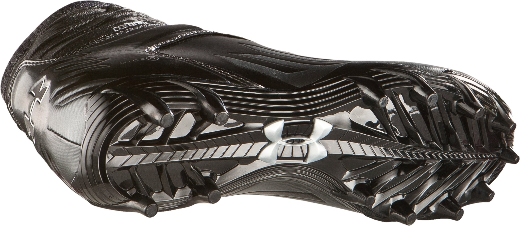 Men's UA Nitro Diablo MC CompFit® Mid Football Cleats, Black
