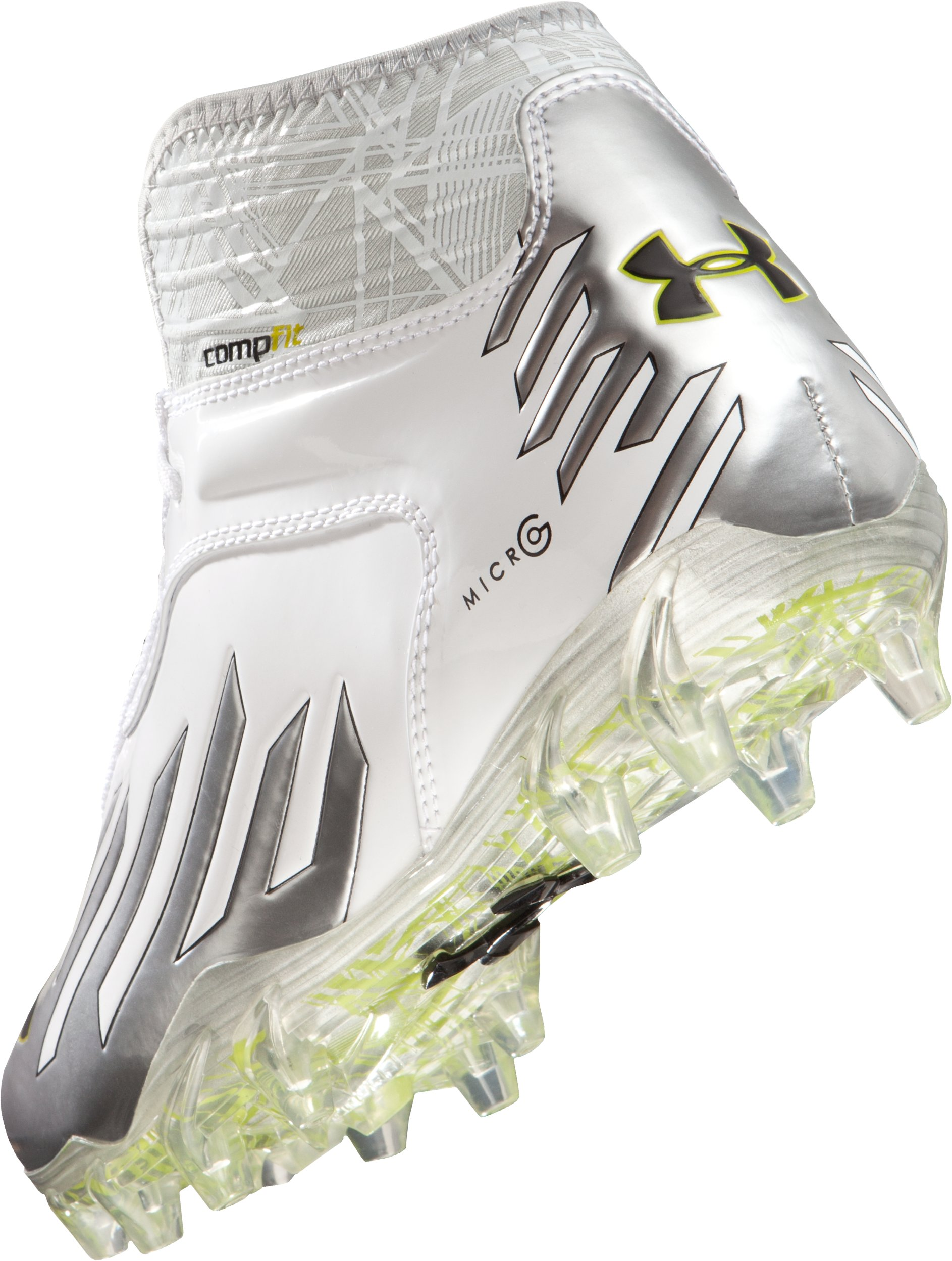 Men's UA Nitro Diablo MC CompFit® Mid Cleats, White