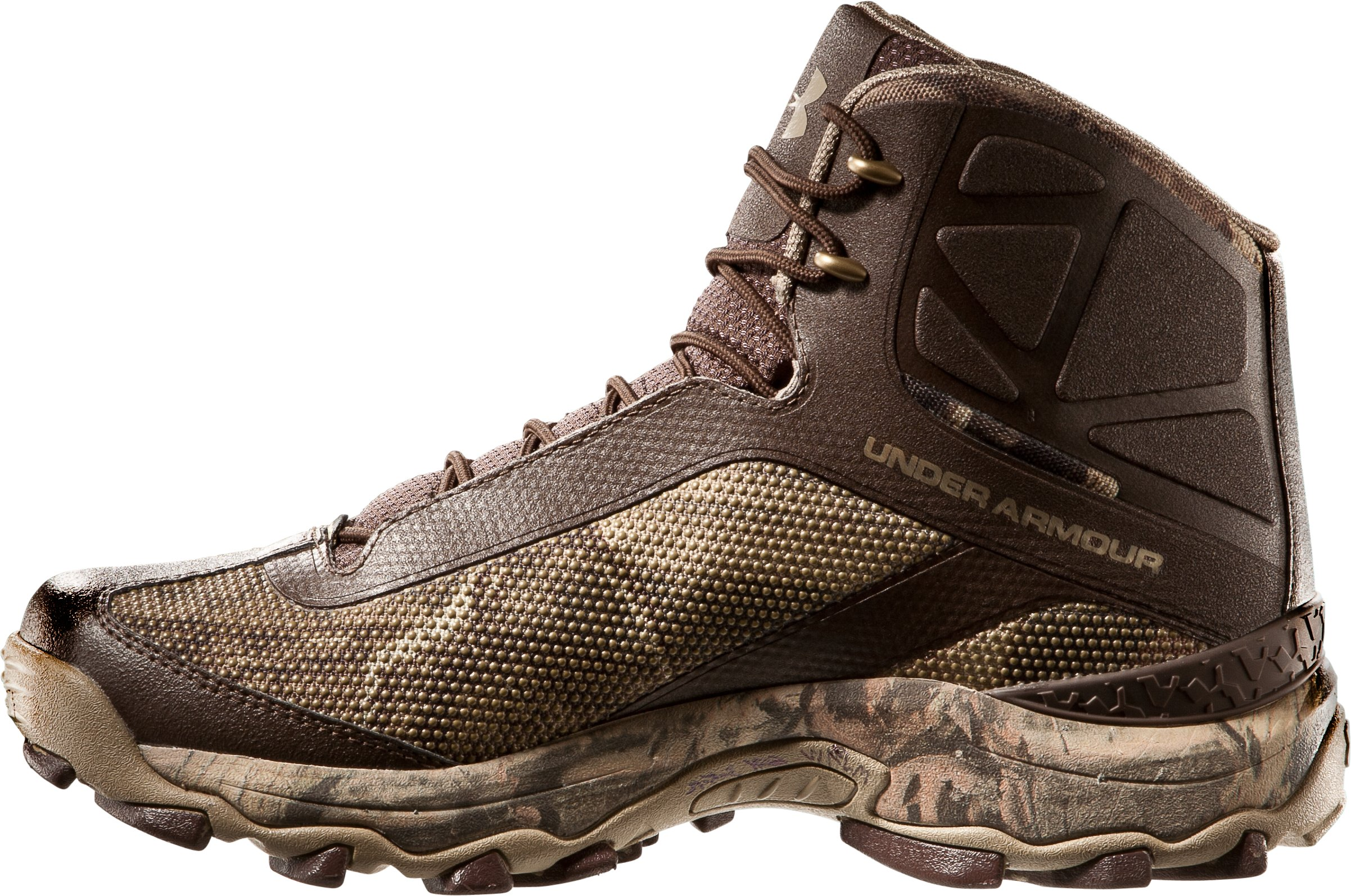 Men's UA Super Speed Freek Boots, Mossy Oak Break-Up Infinity