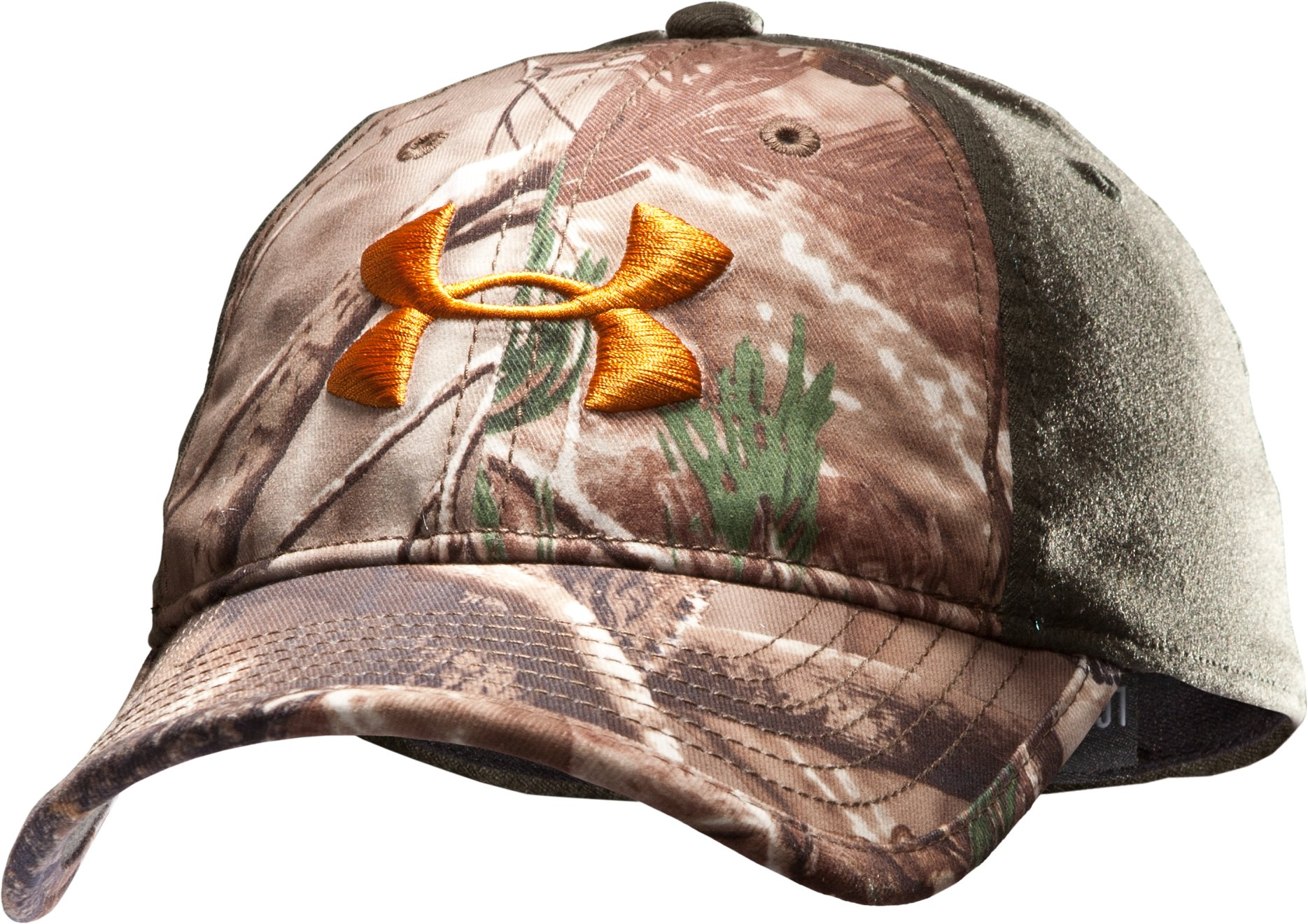 Men's UA Camo 2-Tone Stretch Fit Cap, Realtree AP