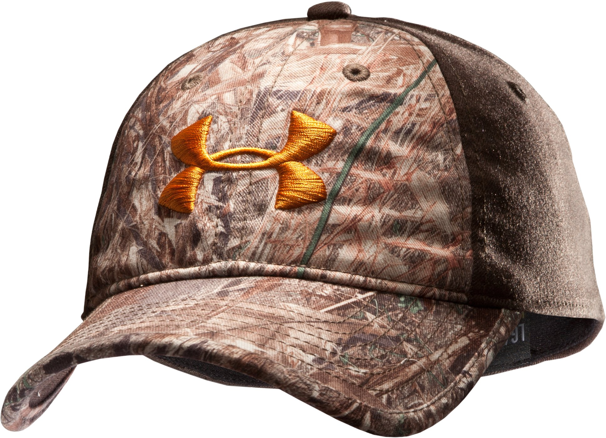 Men's UA Camo 2-Tone Stretch Fit Cap, Duck Blind