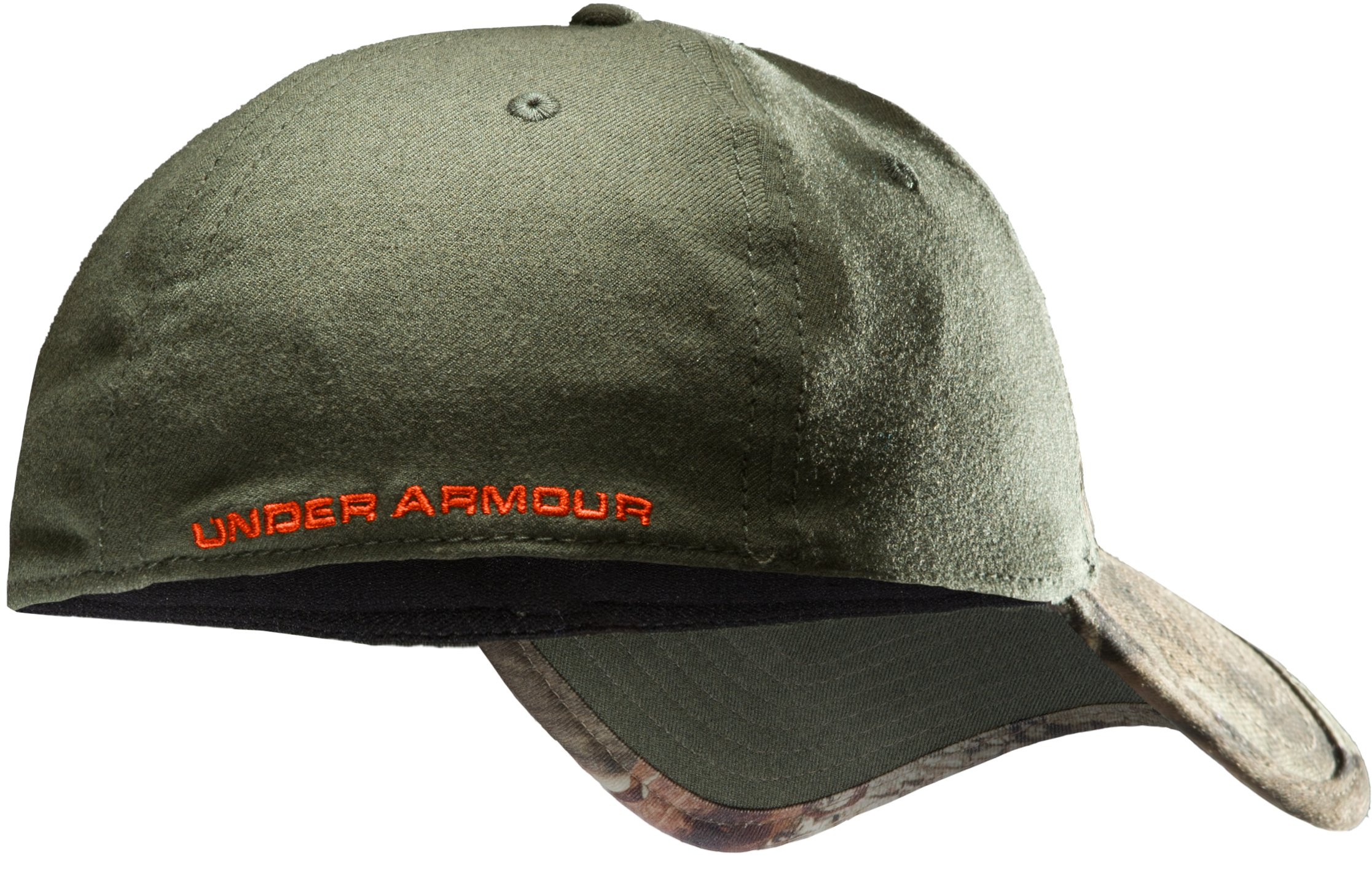Men's UA Camo 2-Tone Stretch Fit Cap, Mossy Oak Break-Up Infinity, undefined