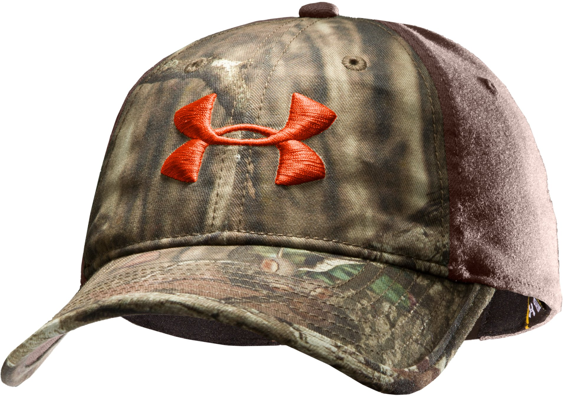 Men's UA Camo 2-Tone Stretch Fit Cap, Mossy Oak Break-Up Infinity, zoomed image
