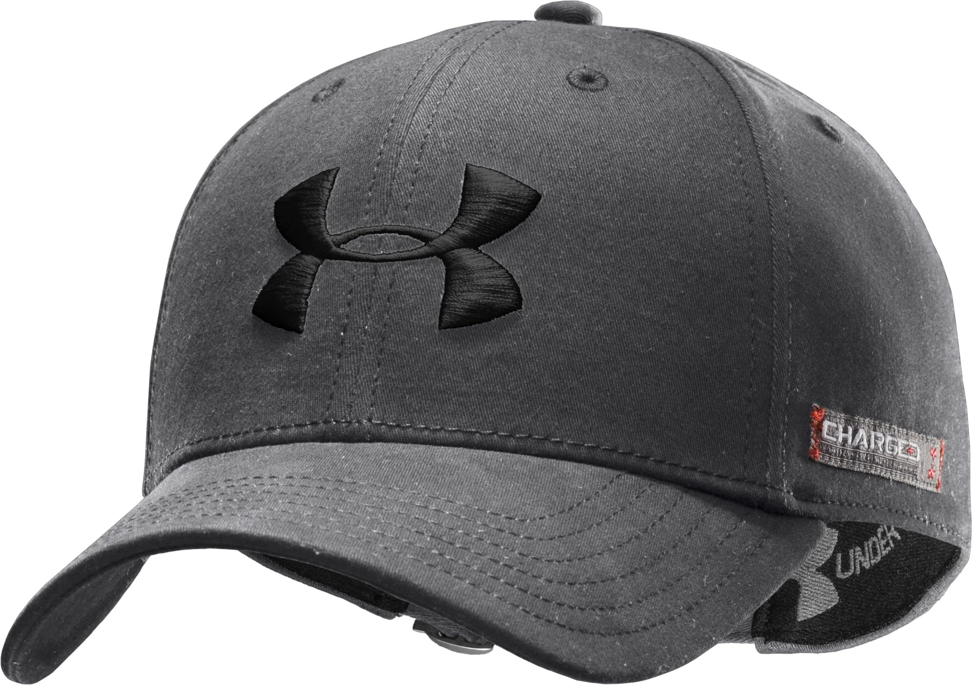 Men's Charged Cotton® Adjustable Cap, Graphite, zoomed image
