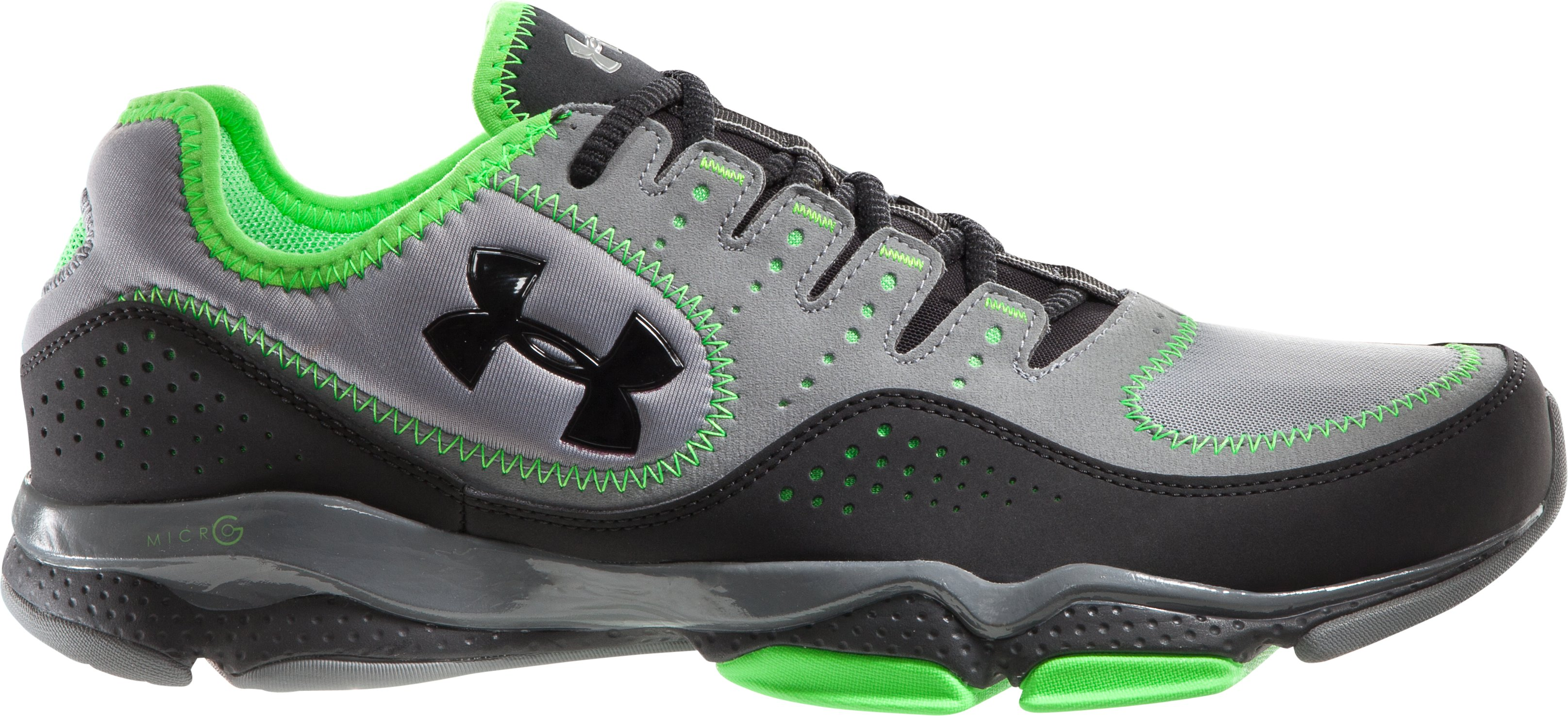 Men's UA Micro G® Defend Training Shoes, Graphite, undefined