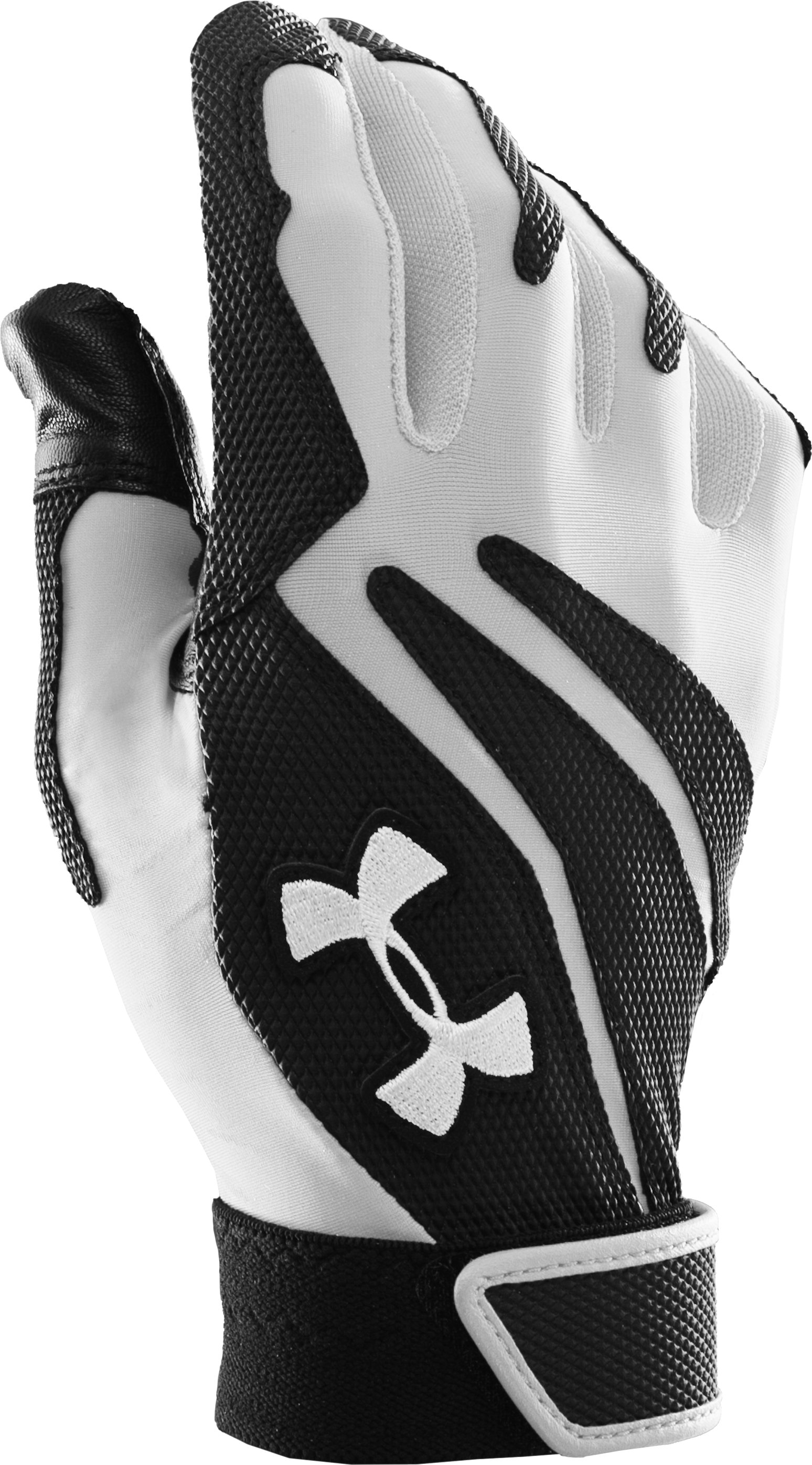 Kids' UA Clean Up IV Batting Gloves, White,