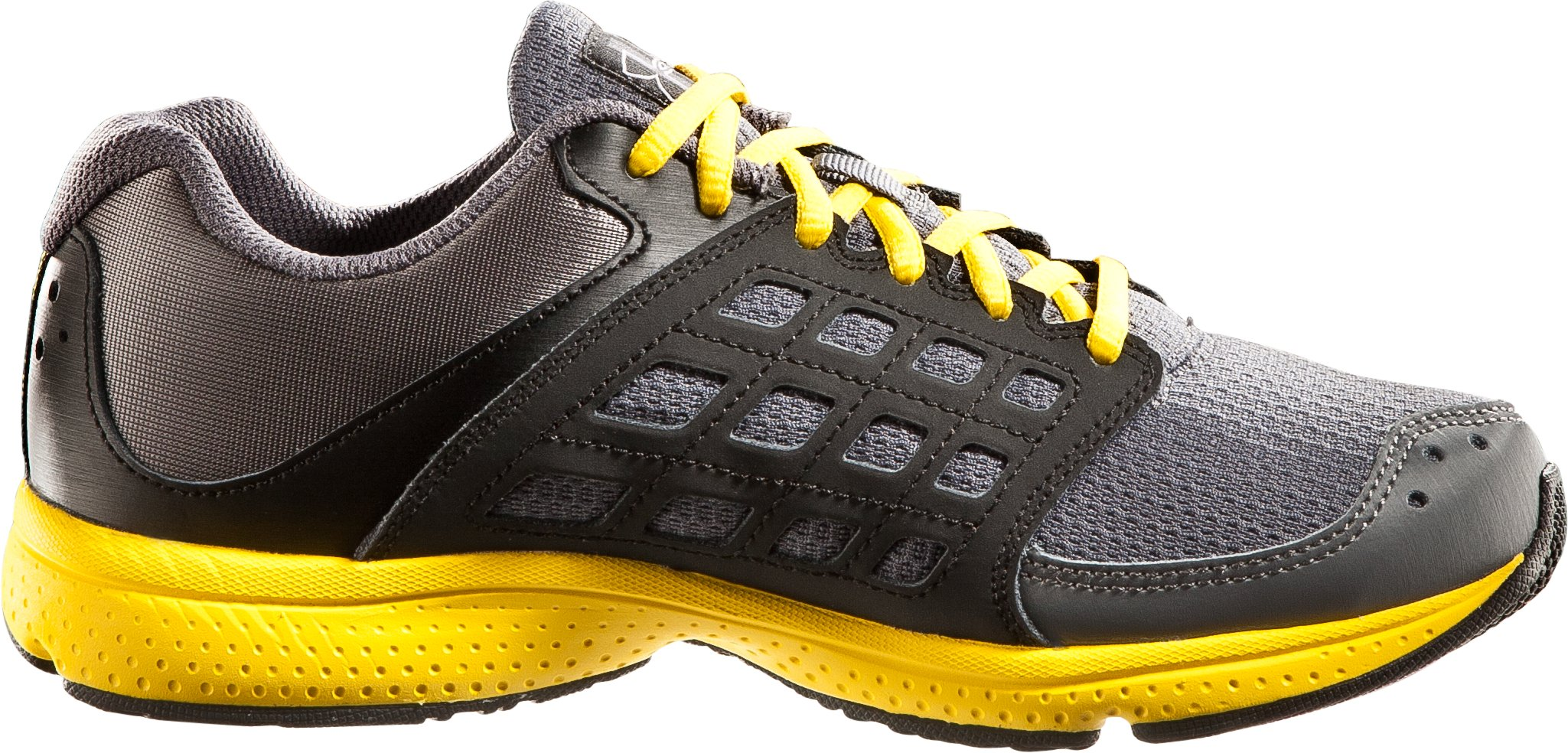 Boys' UA Connect Grade School Running Shoes, Graphite, zoomed image
