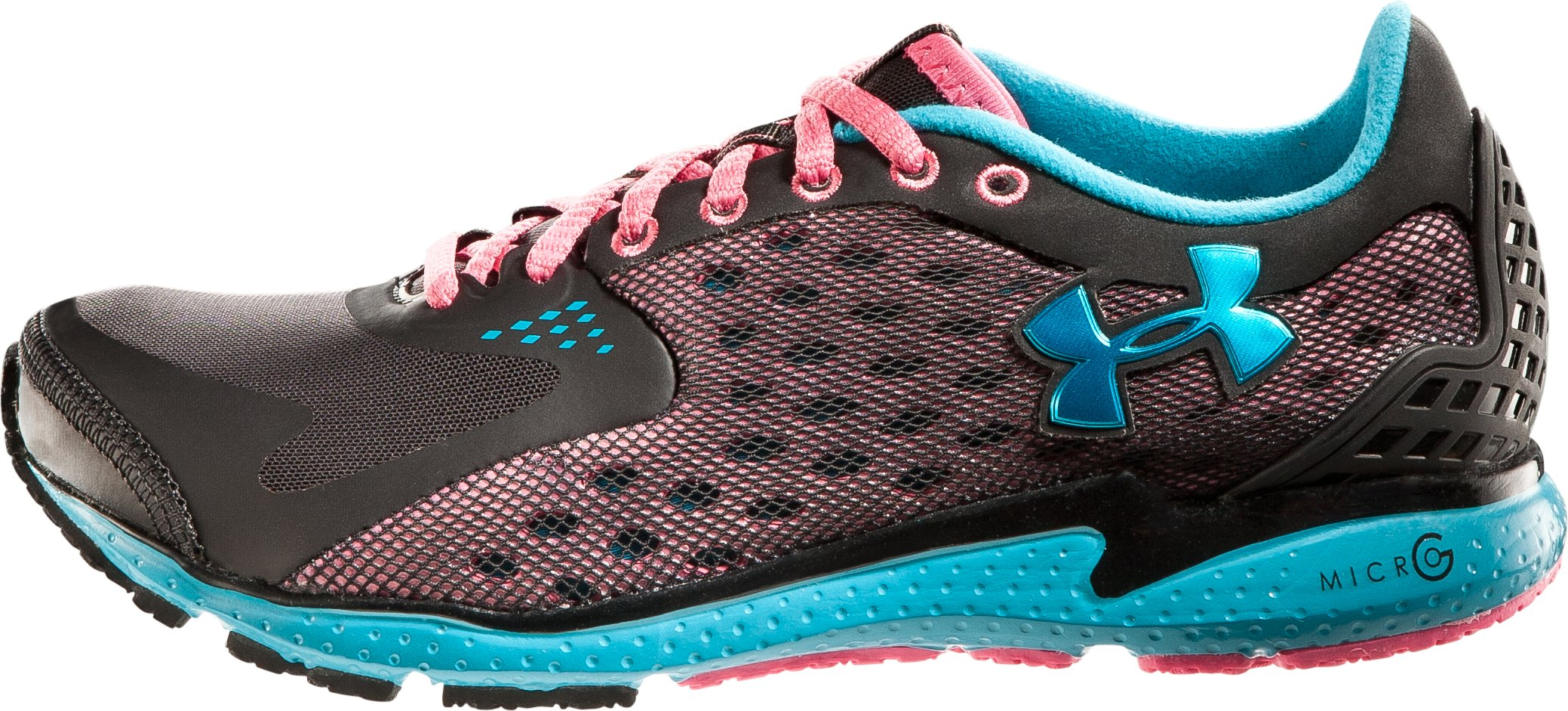 Women's UA Micro G® Running Shoes, Black , zoomed image