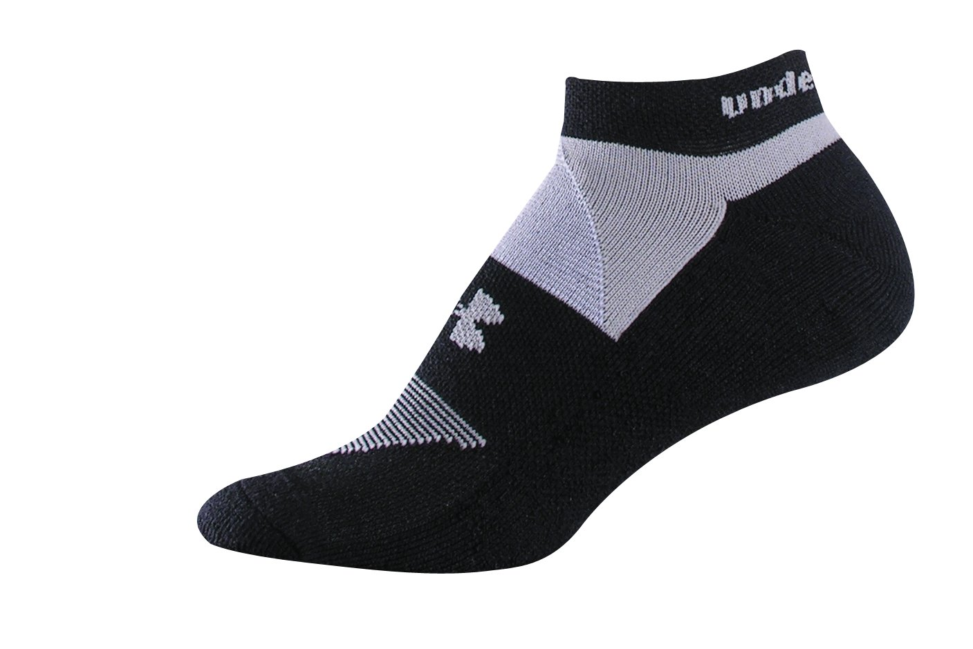 Women's UA Charged Cotton® No Show Sock 3-Pack, Black , zoomed image