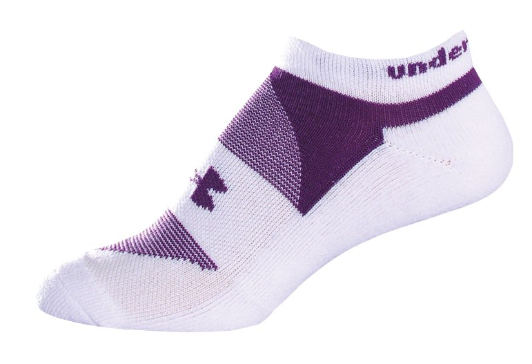 Women's UA Charged Cotton® No Show Sock 3-Pack, White, zoomed image