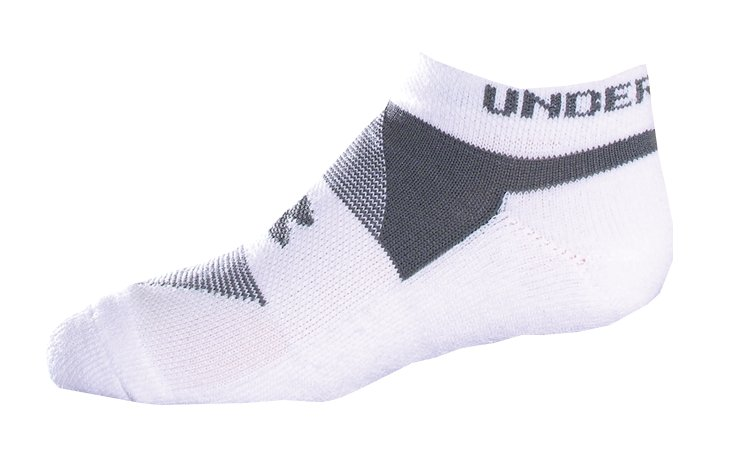 Kids' UA Charged Cotton® No Show Socks 3-Pack, White, undefined