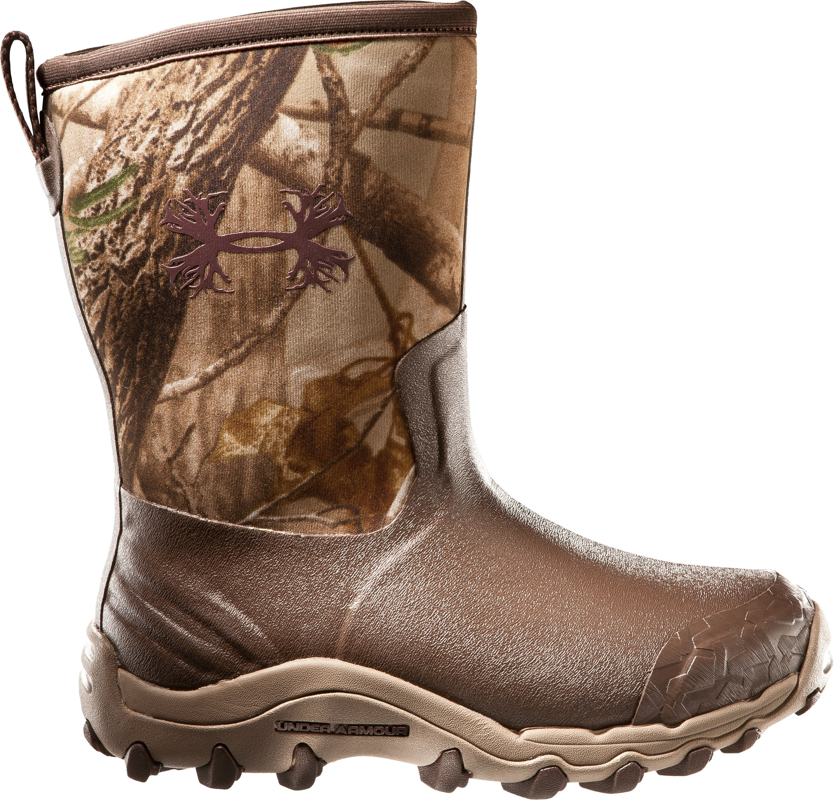 Men's UA H.A.W. Shorty Hunting Boots, Realtree AP, zoomed image