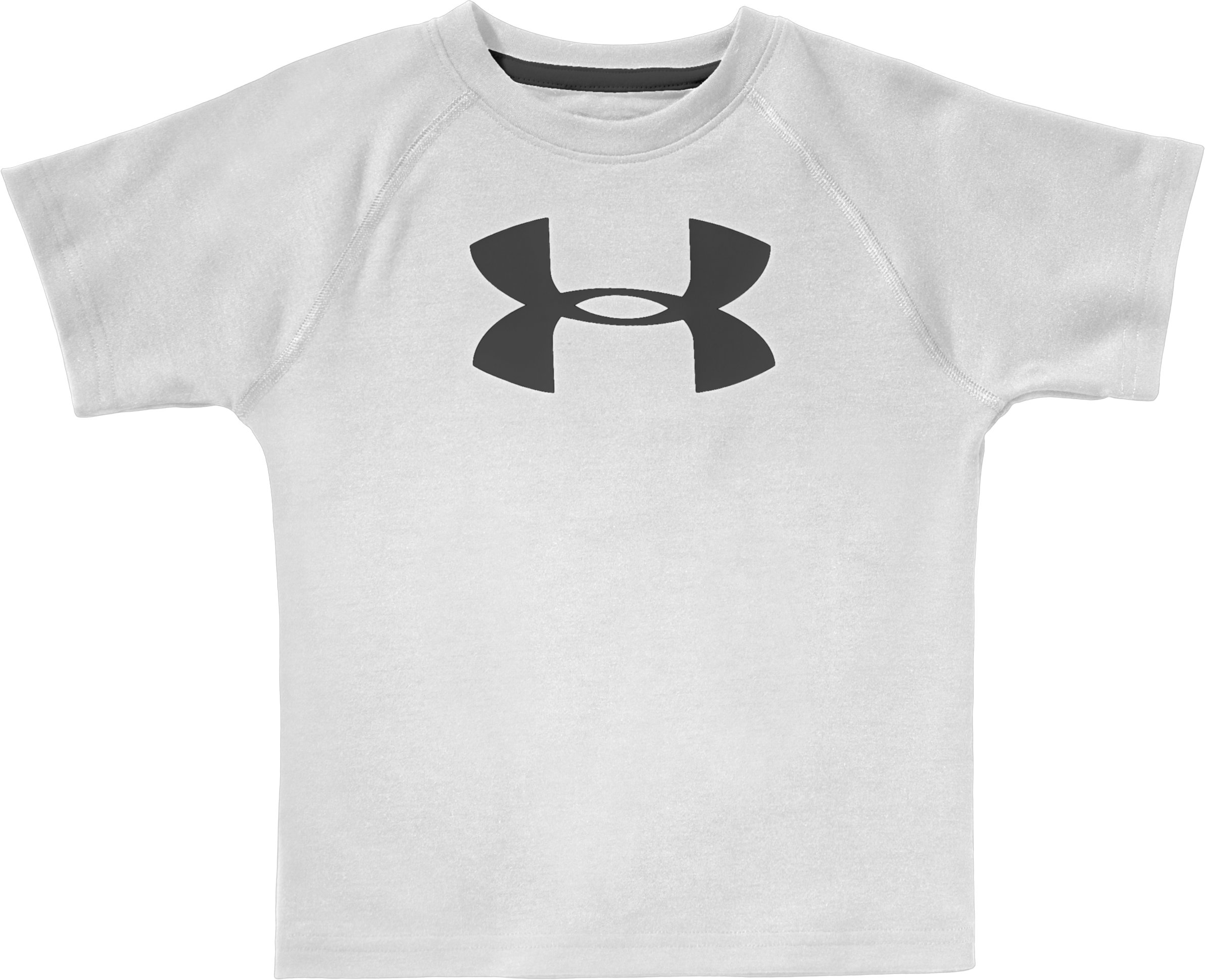 Boys' 4-7 UA Tech™ Big Logo Short Sleeve T-Shirt, White, zoomed image