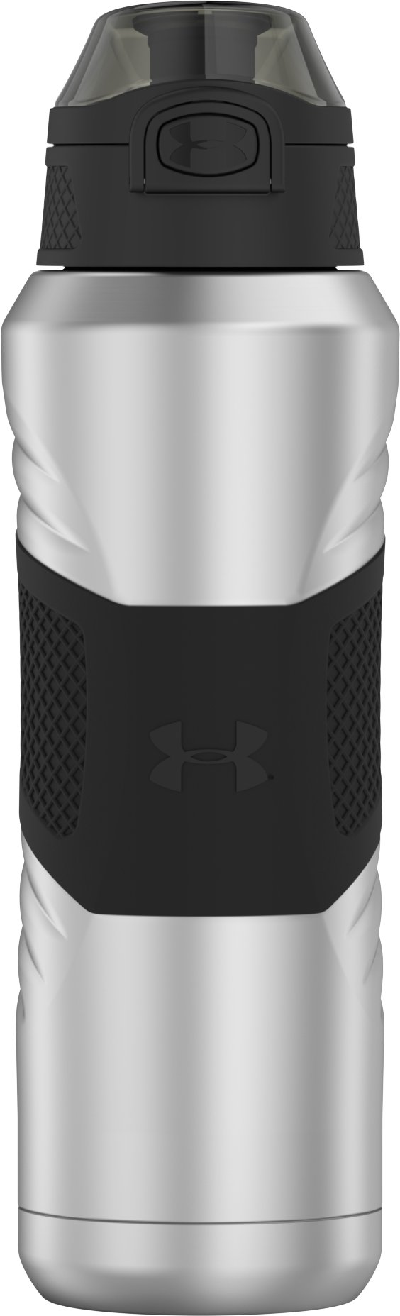 UA Dominate 24 oz. Vacuum-Insulated Water Bottle with Flip Top Lid, Steel, undefined