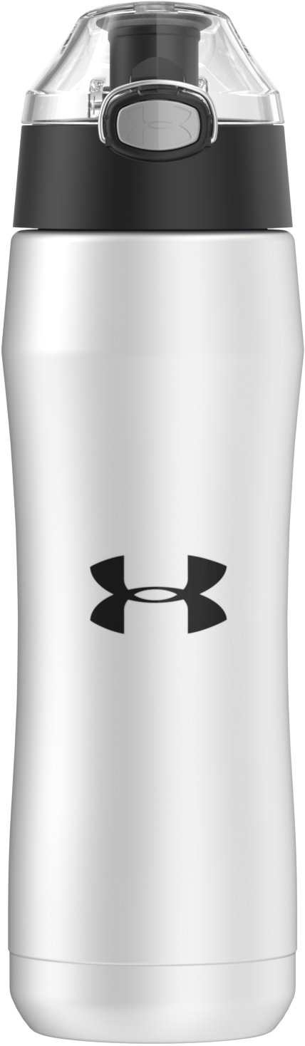UA Beyond 18 oz. Vacuum Insulated Water Bottle, White,