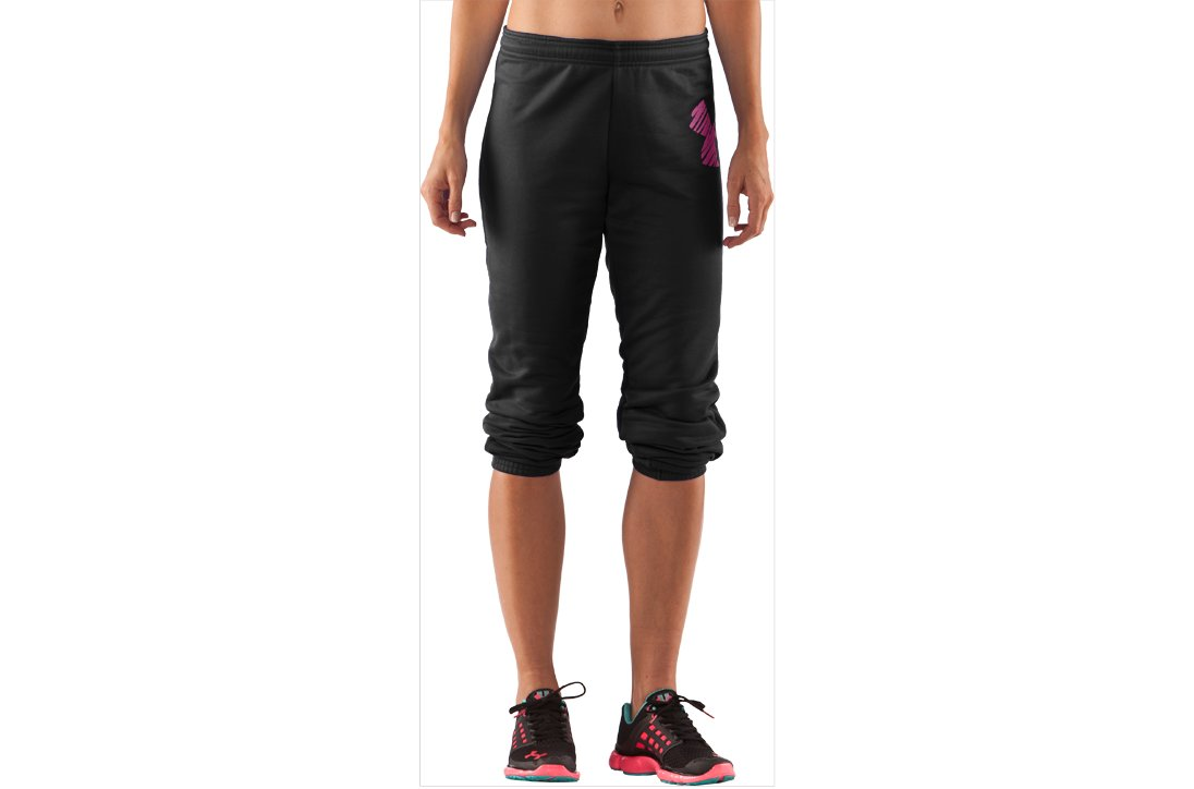 Women's UA Finesse Big Logo Varsity Pant, Black , zoomed image