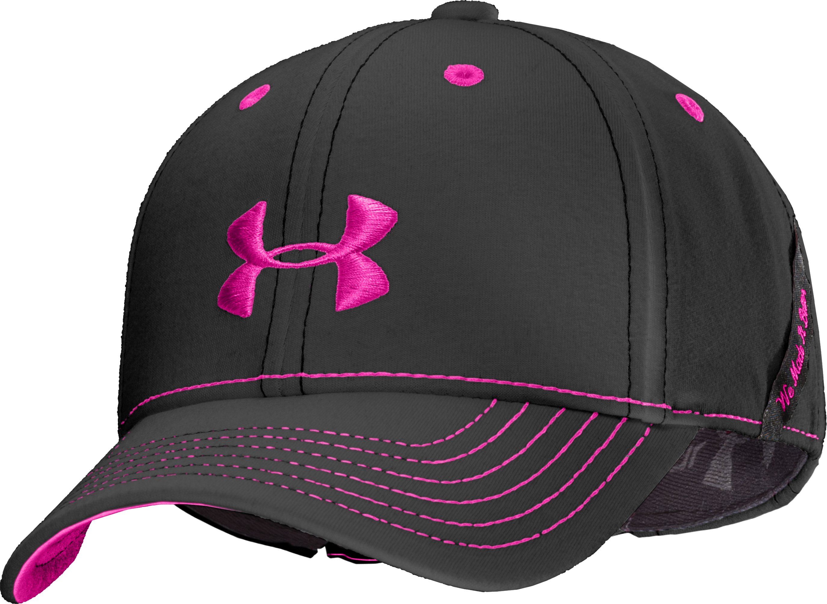 Girls' UA Charged Cotton® Adjustable Cap, Black