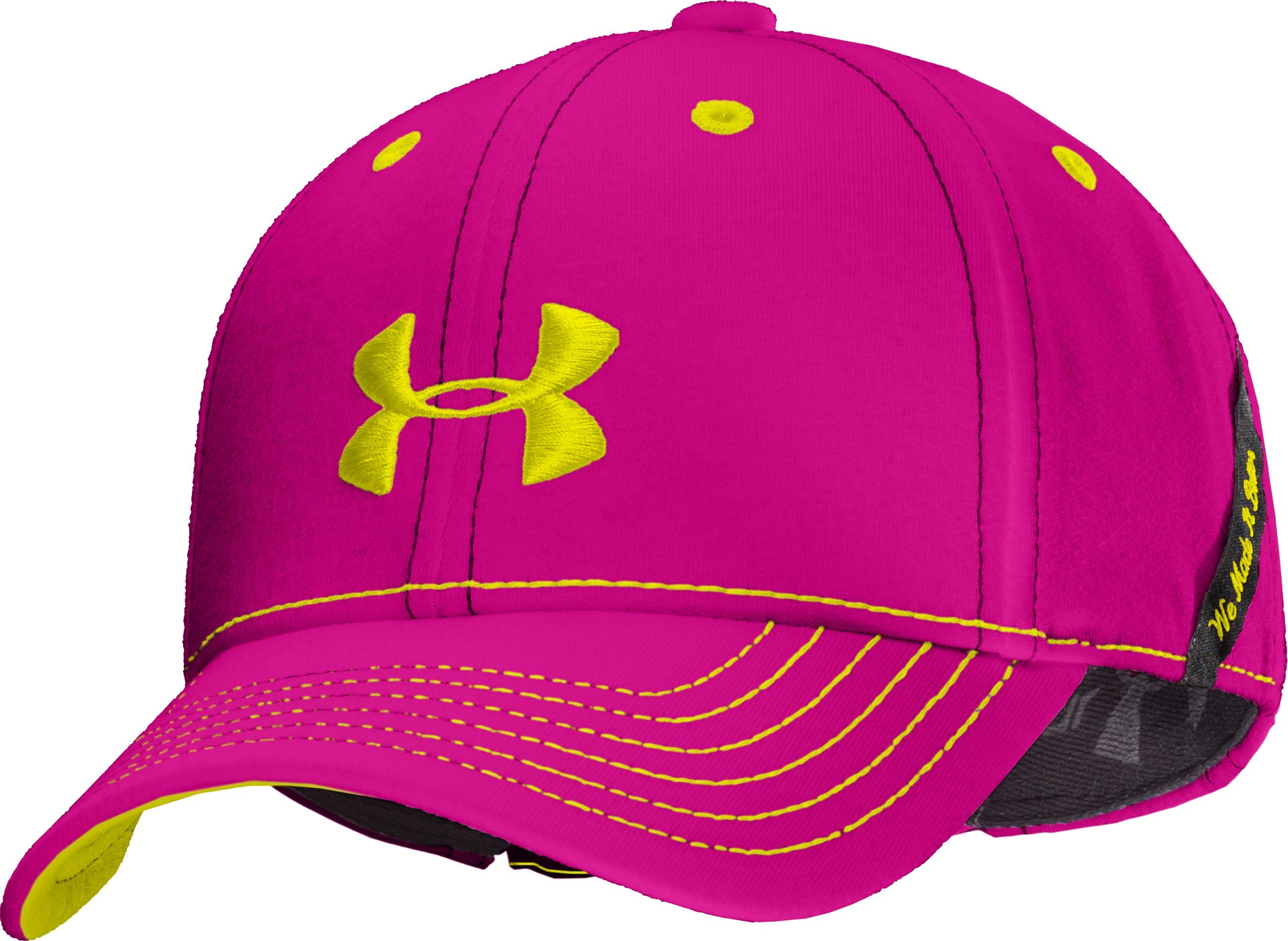 Girls' UA Charged Cotton® Adjustable Cap, Tropic Pink, zoomed image