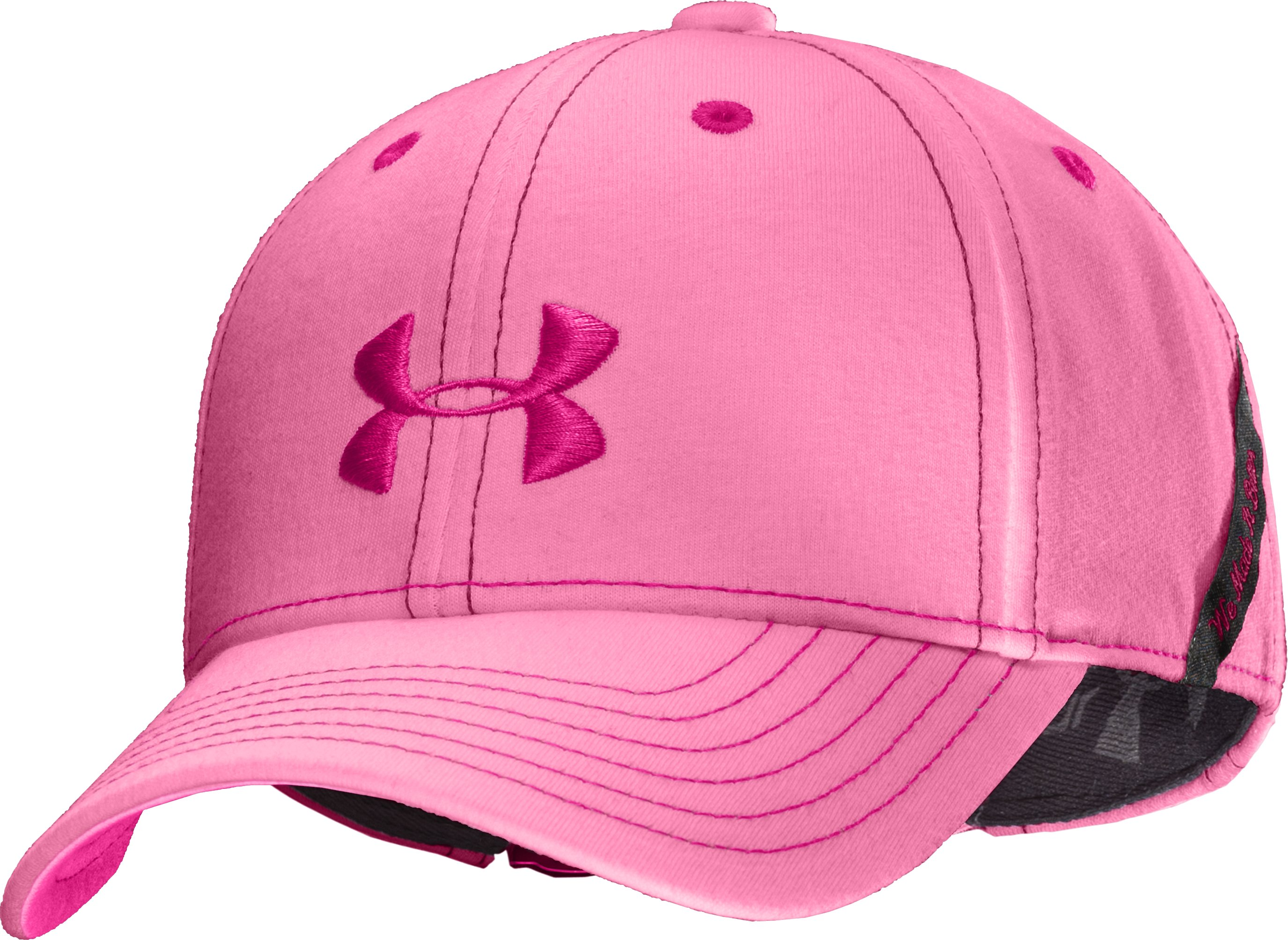 Girls' UA Charged Cotton® Adjustable Cap, Fluo Pink, zoomed image