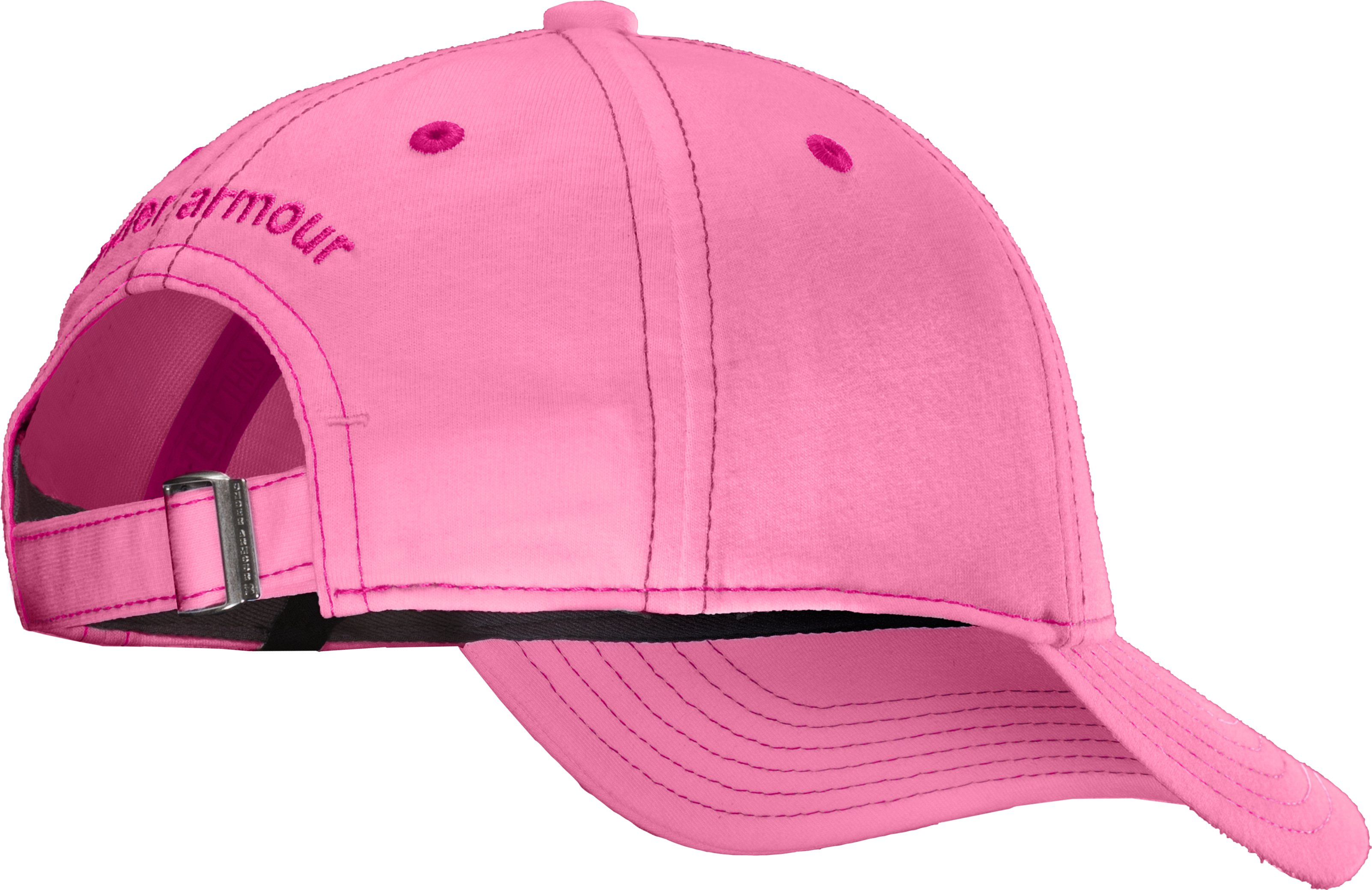 Girls' UA Charged Cotton® Adjustable Cap, Fluo Pink