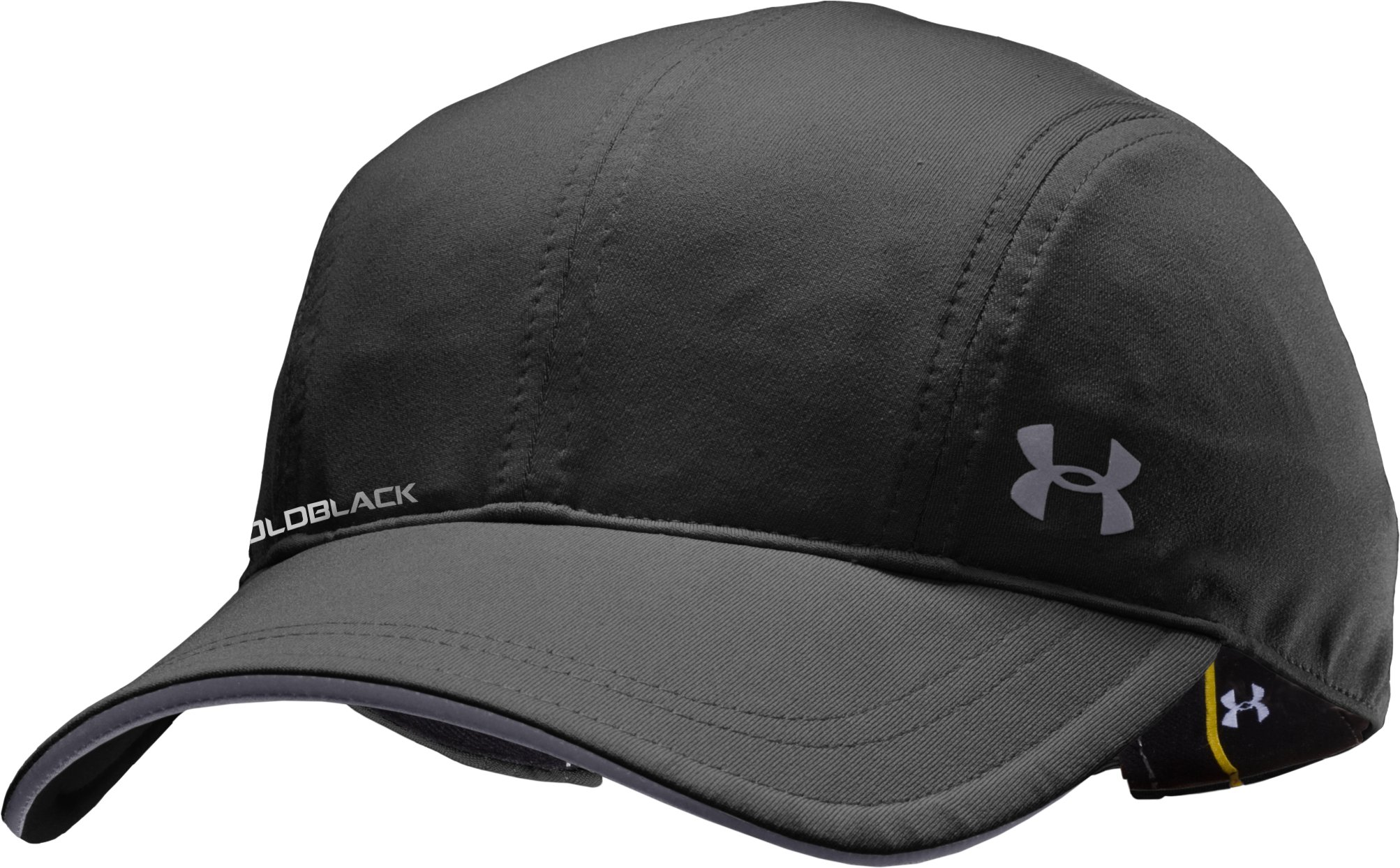 Women's UA coldblack® Run Hat, Black , zoomed image
