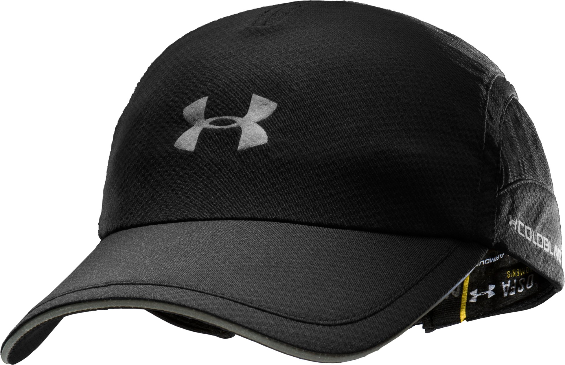 Men's coldblack® Adjustable Run Cap, Black