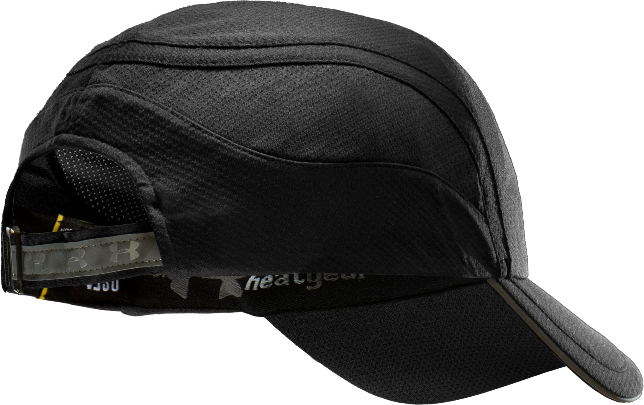 Men's coldblack® Adjustable Run Cap, Black , undefined