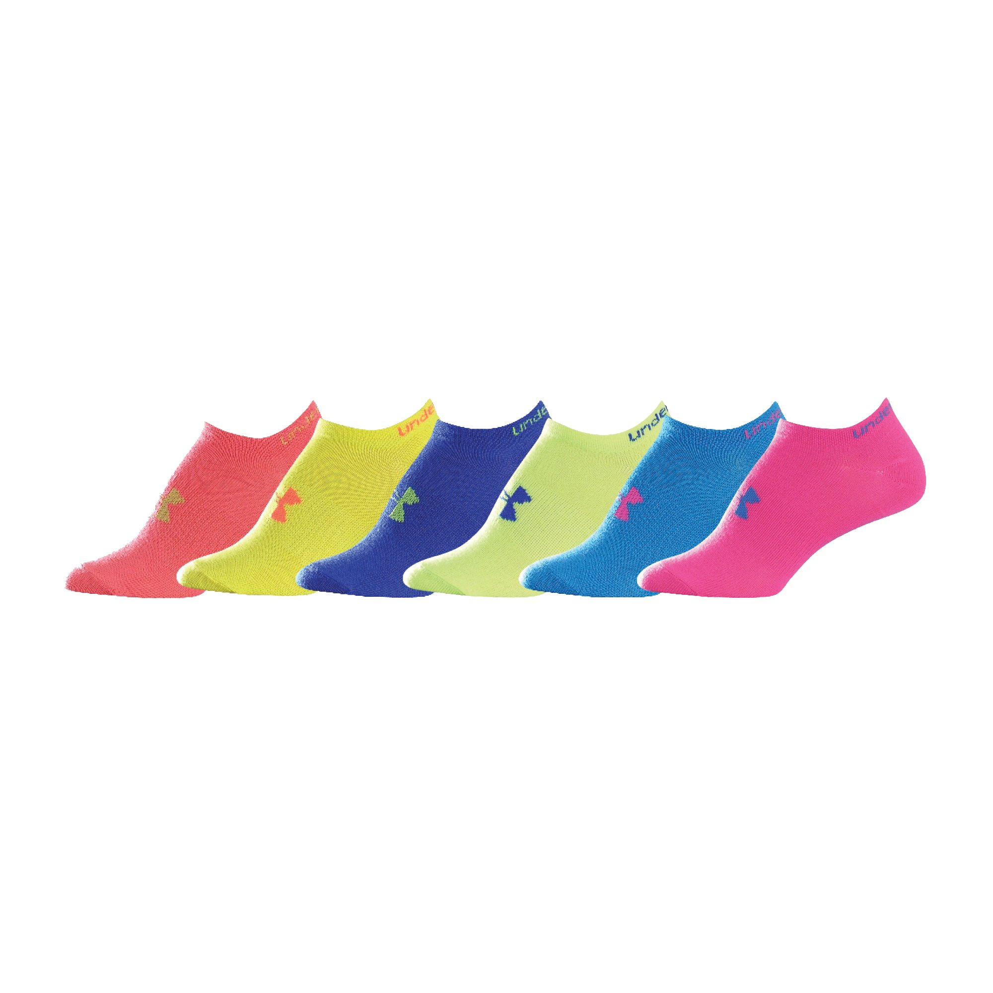 Women's UA Neon Liner Socks 6-Pack, Neo Pulse, undefined