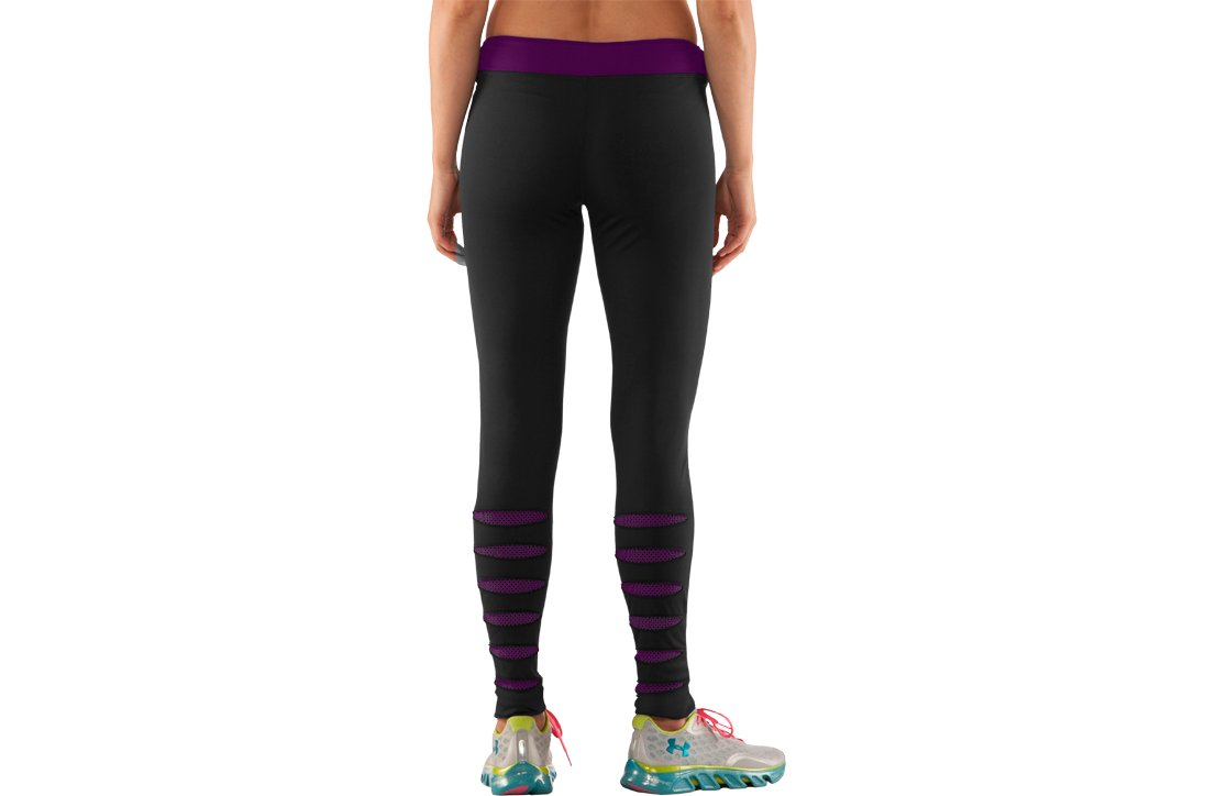 Women's UA ColdGear® Slash Tights, Black , zoomed image